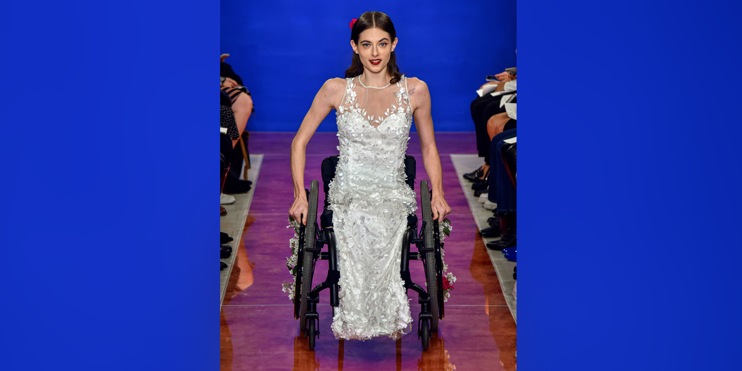 Model in wheelchair shares what it meant to be a part of New York Bridal Fashion Week