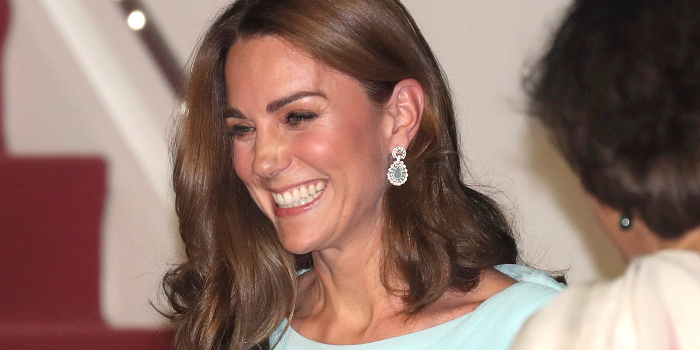 Kate Middleton wears a colorful ombre outfit for first stop on Pakistan tour