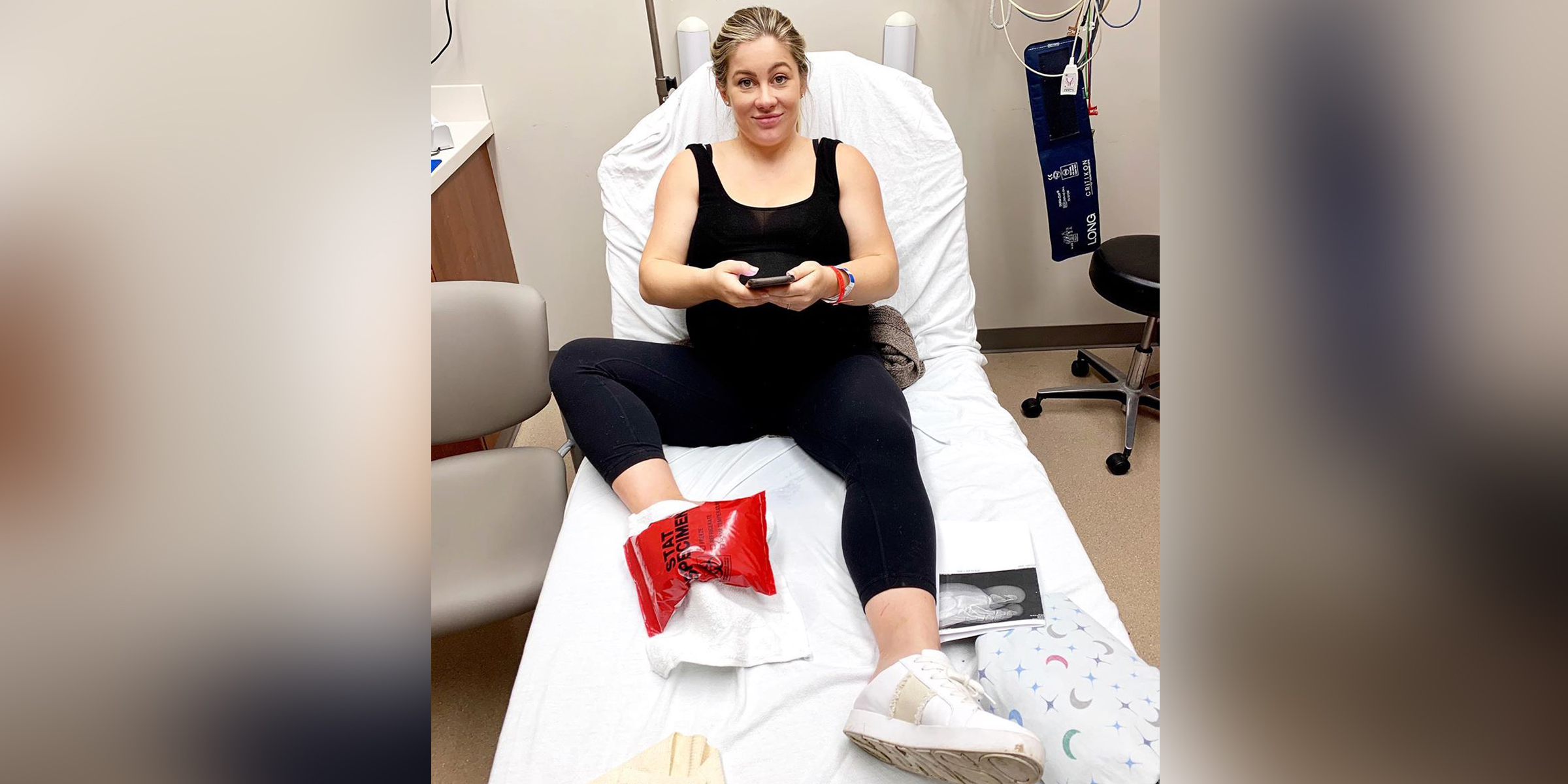 Shawn Johnson East, 38 weeks pregnant, ended up in the ER after 'freak accident'