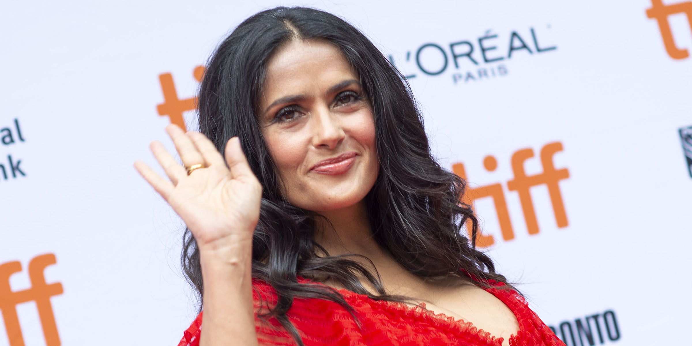 Salma Hayek shares revealing acupuncture photo on Instagram