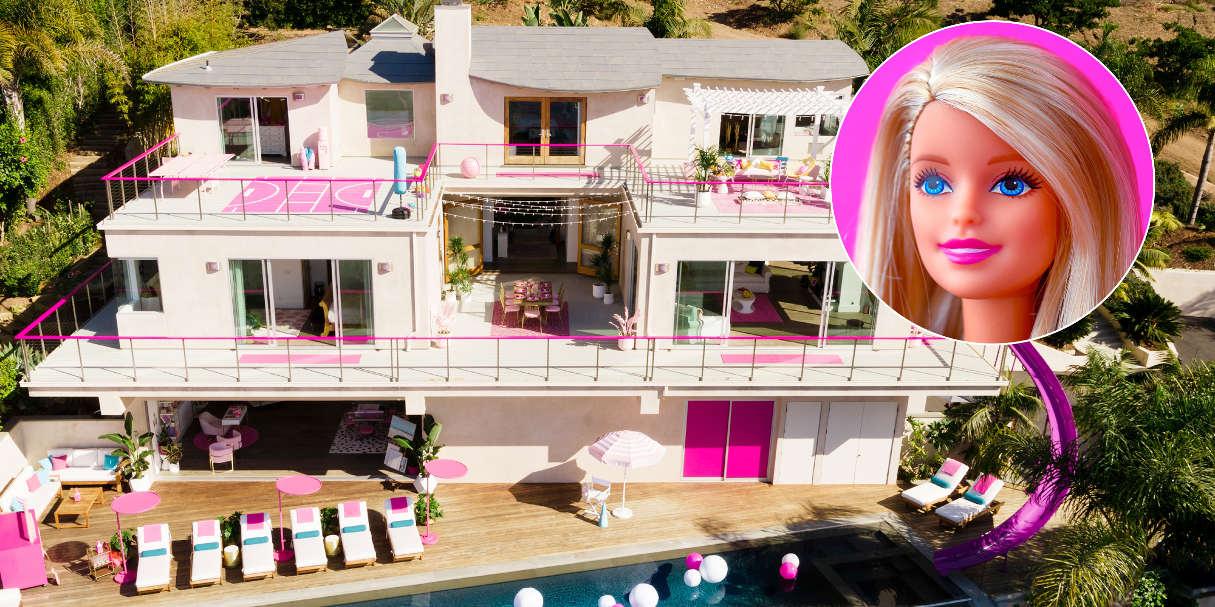 Barbie's Dreamhouse is listed on Airbnb now for the world's best sleepover