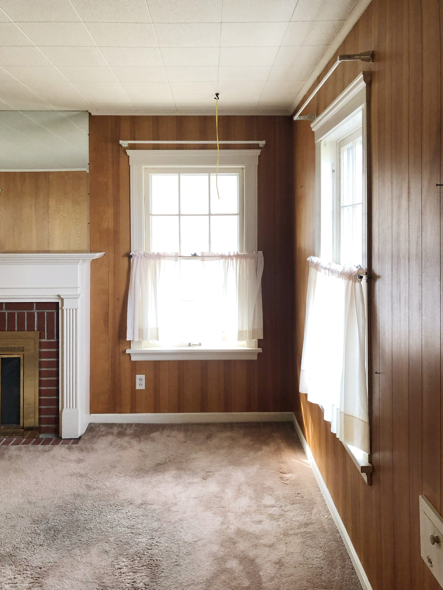 See This Dated Wood Paneled Living Room, Living Room Wood Paneling