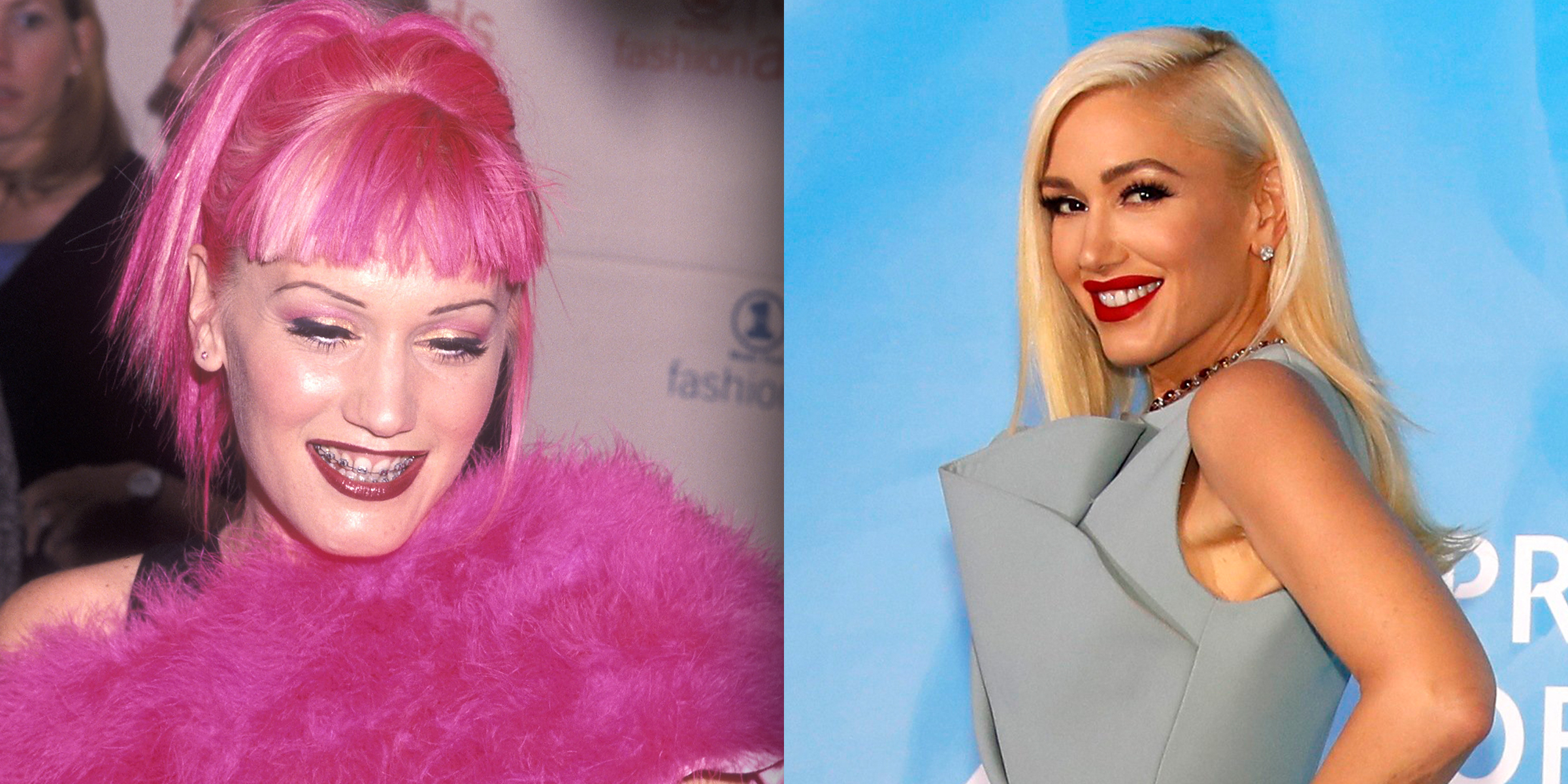 Gwen Stefani reflects on her pink hair and braces (and other