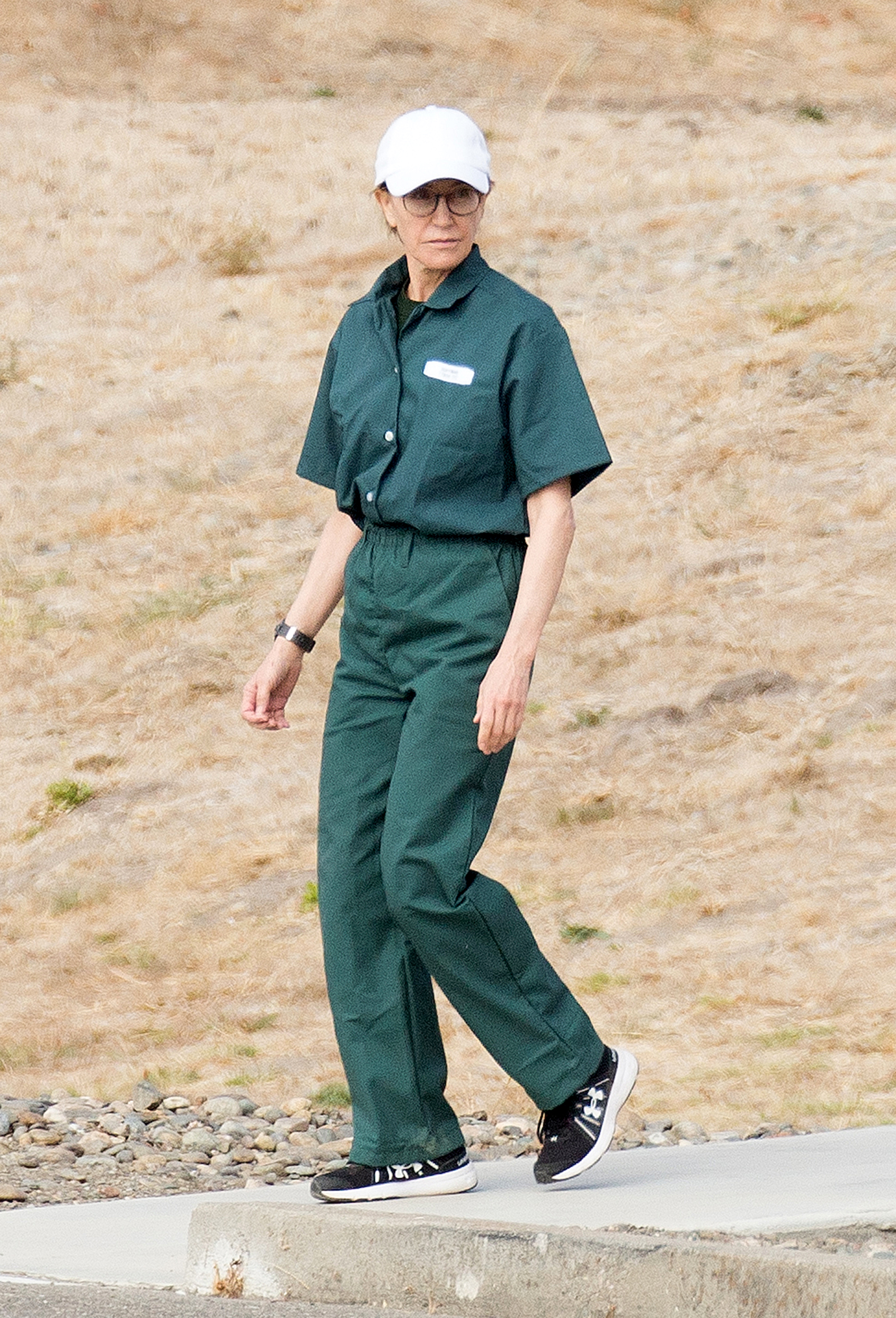 Image: Felicity Huffman at the Federal Correctional Institution in Dublin, Calif., on Oct. 19, 2019.