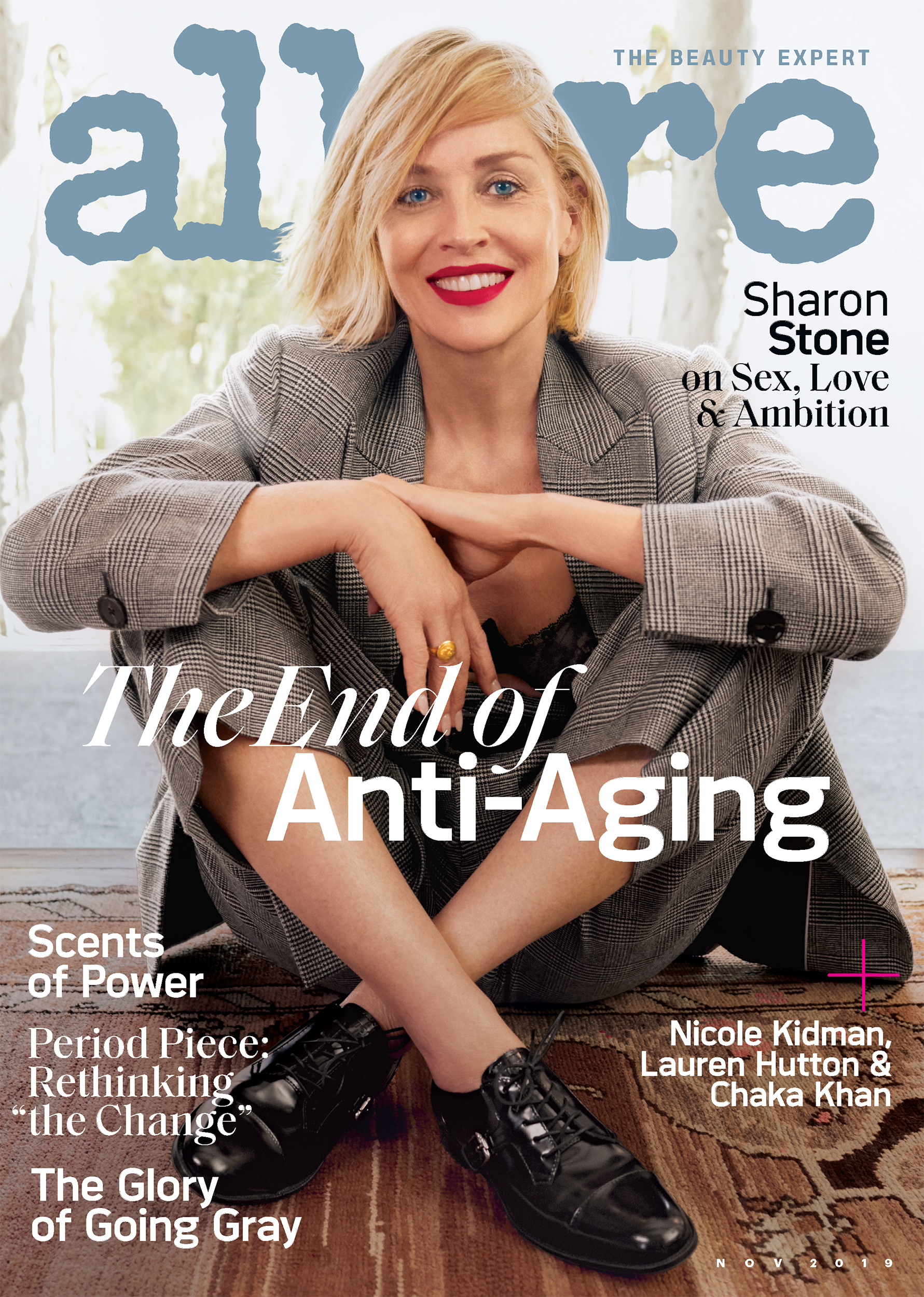 Sharon Stone Talks Beauty And Aging On Cover Of Allure Magazine