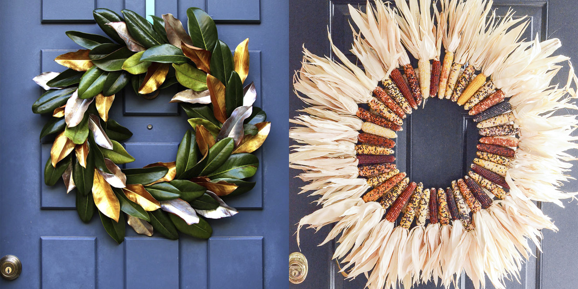 6 easy DIY fall wreath ideas to use as front door decorations