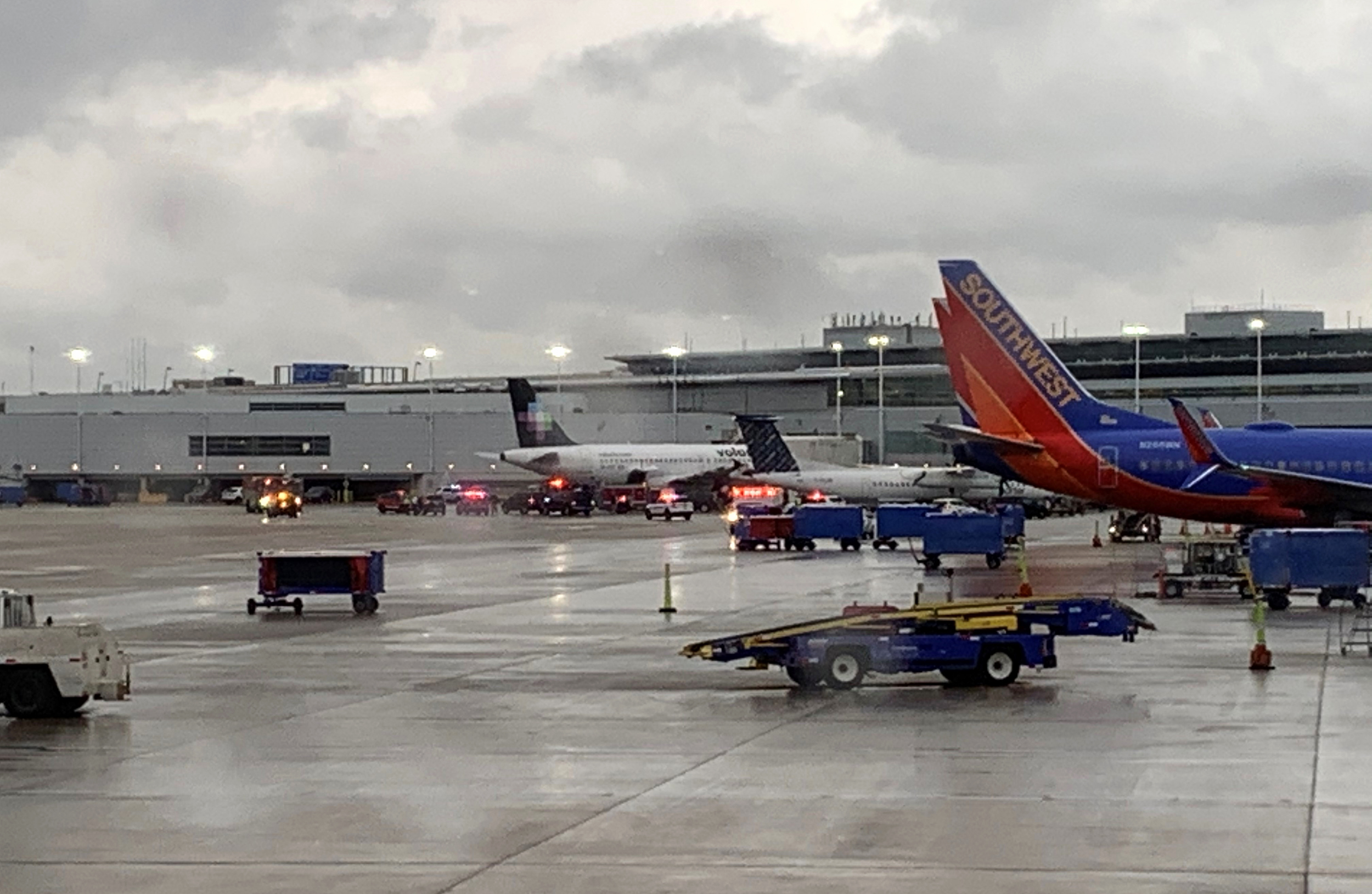 Luggage explodes after being run over at Midway Airport