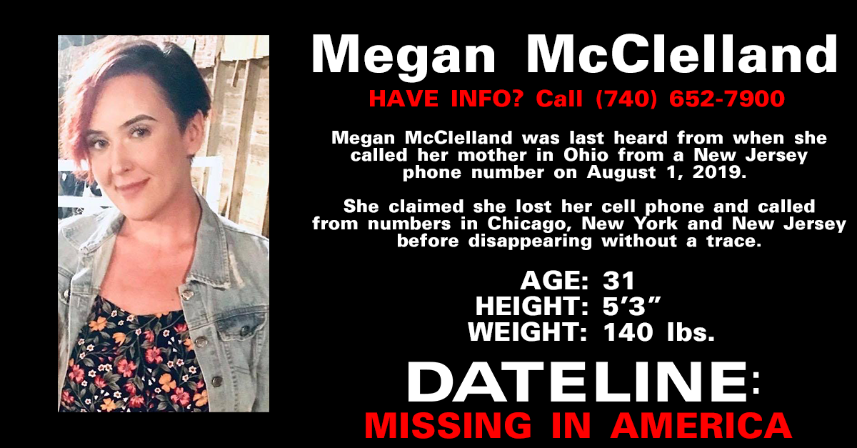 Woman Fears Something Terrible Happened To Her Sister Megan Mcclelland Who Disappeared Nearly Three Months Ago