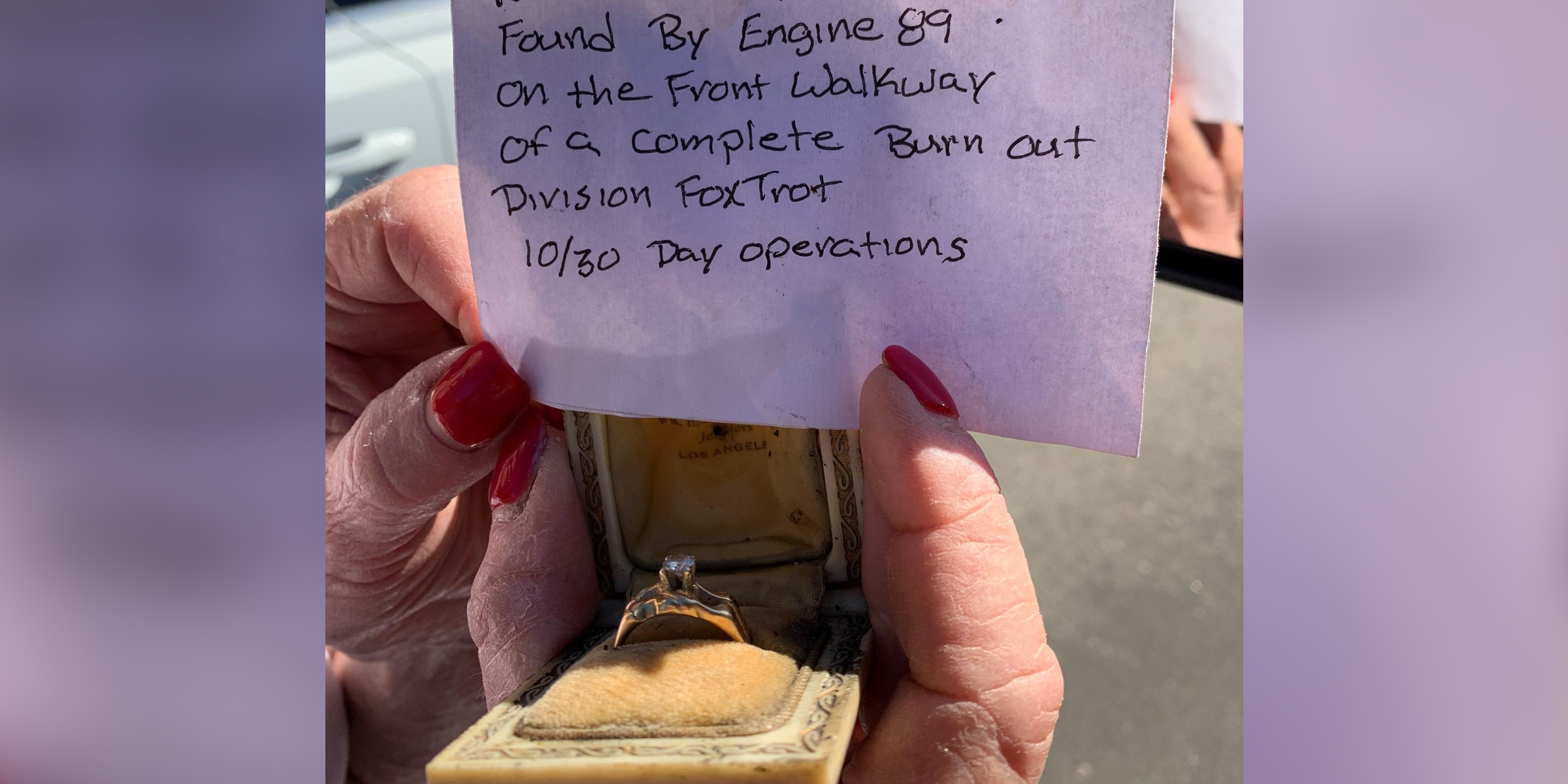Wedding ring found in Maria fire debris becomes a 'symbol of hope'