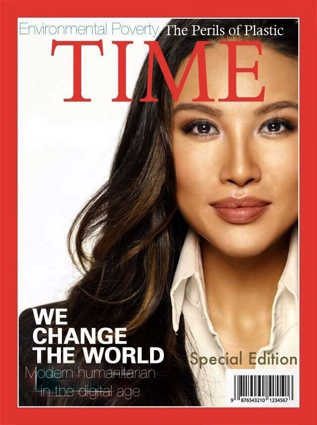 Image: A fake Time magazine cover with Mina Chang.
