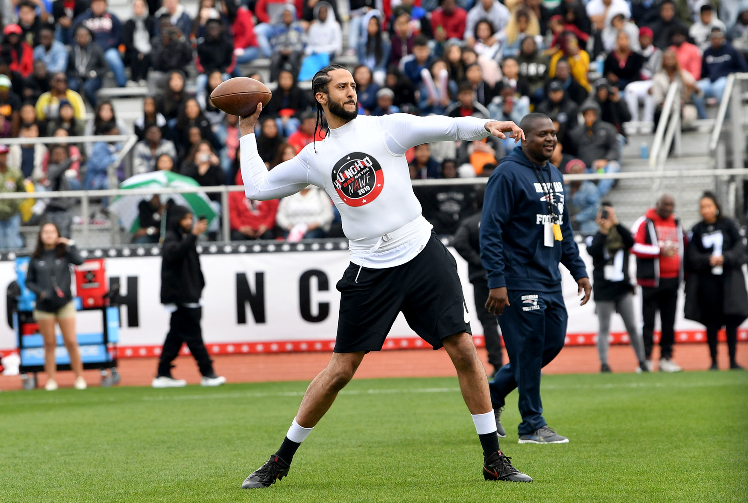 Image result for colin kaepernick holds his own workout