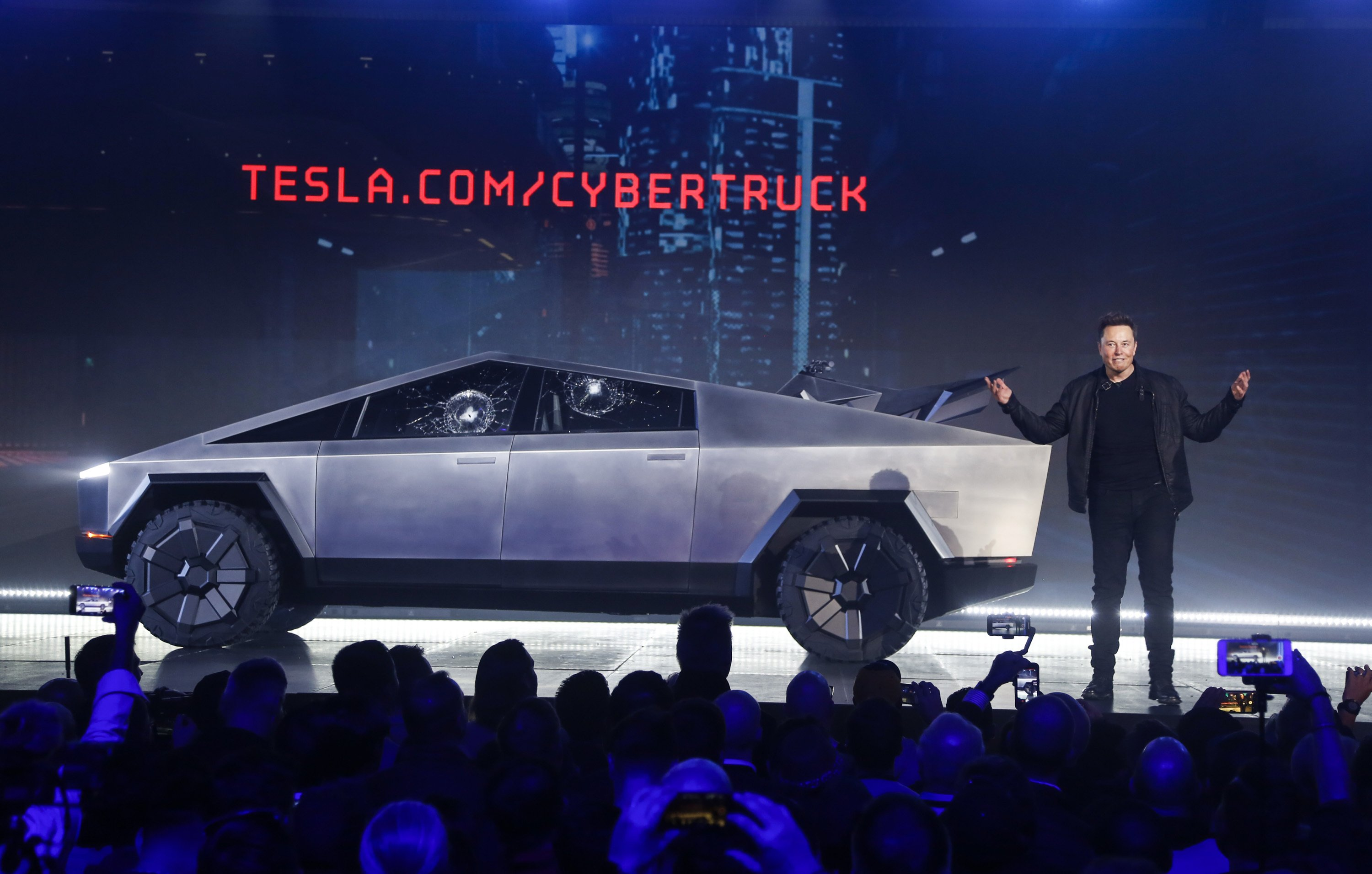 Tesla unveils 'bulletproof' Cybertruck — but it doesn't go quite as planned