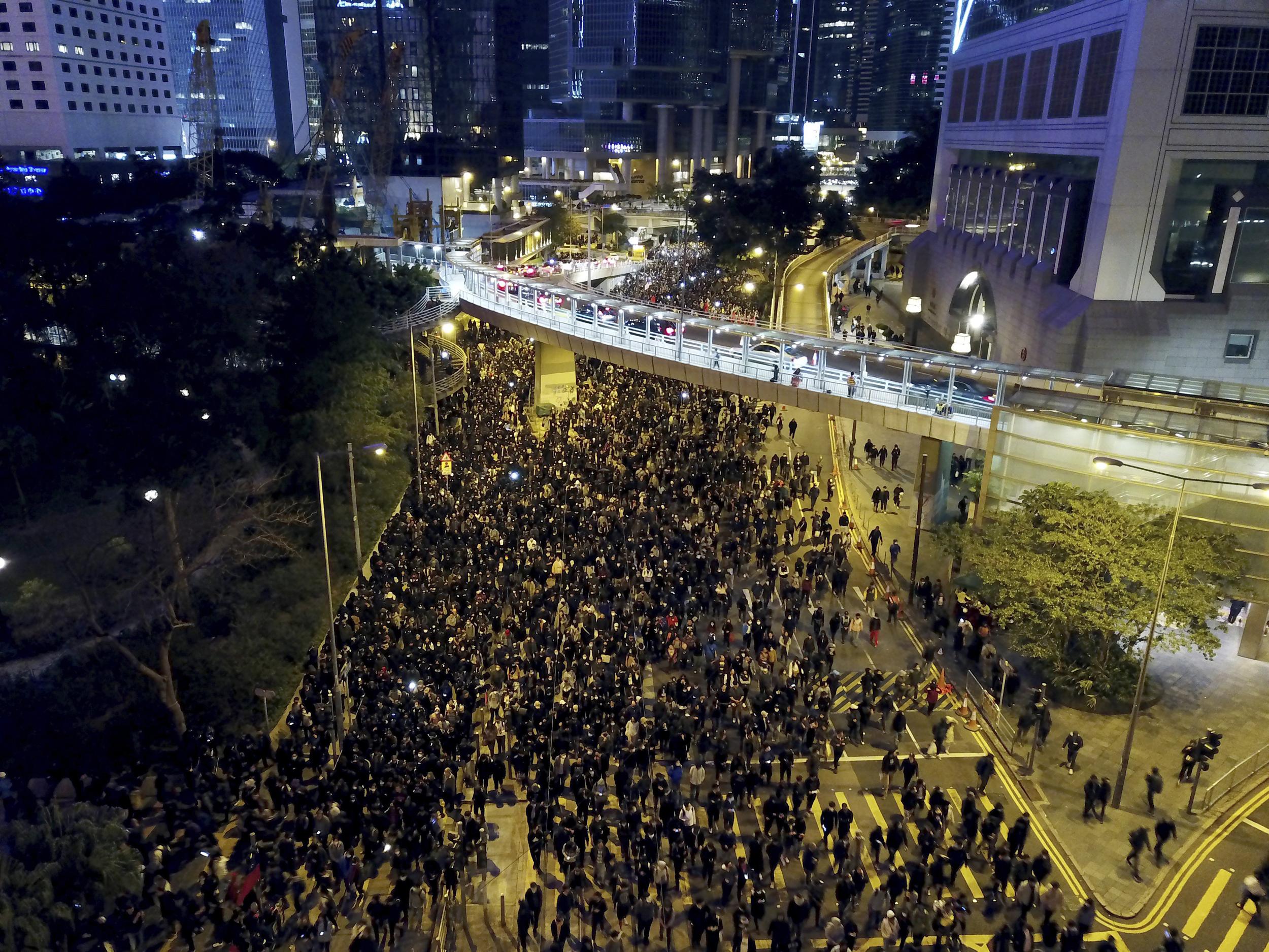Organizer of mass Hong Kong protests disbanded