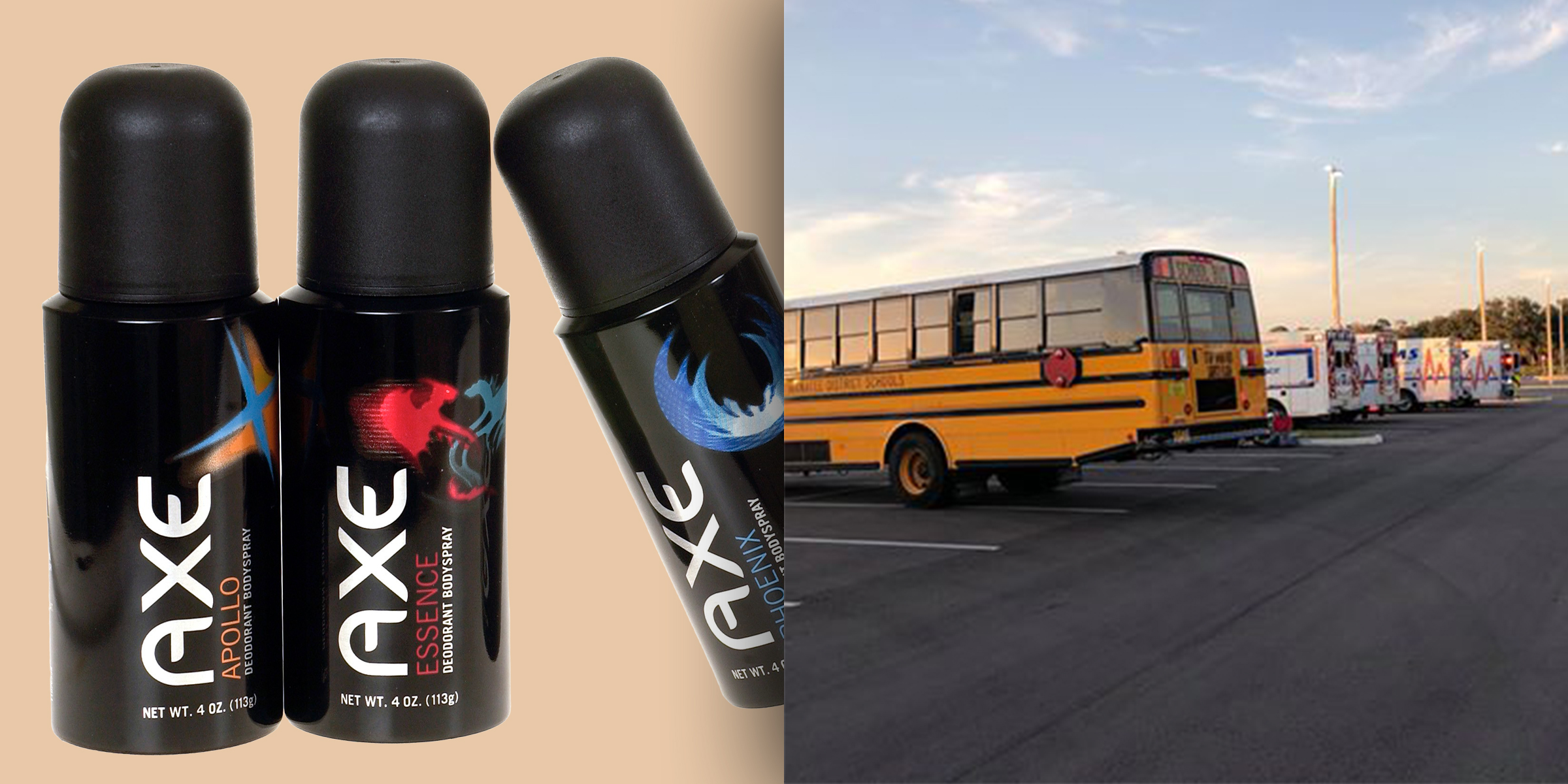 School bus evacuated, 911 called over the smell of too much Axe Body Spray