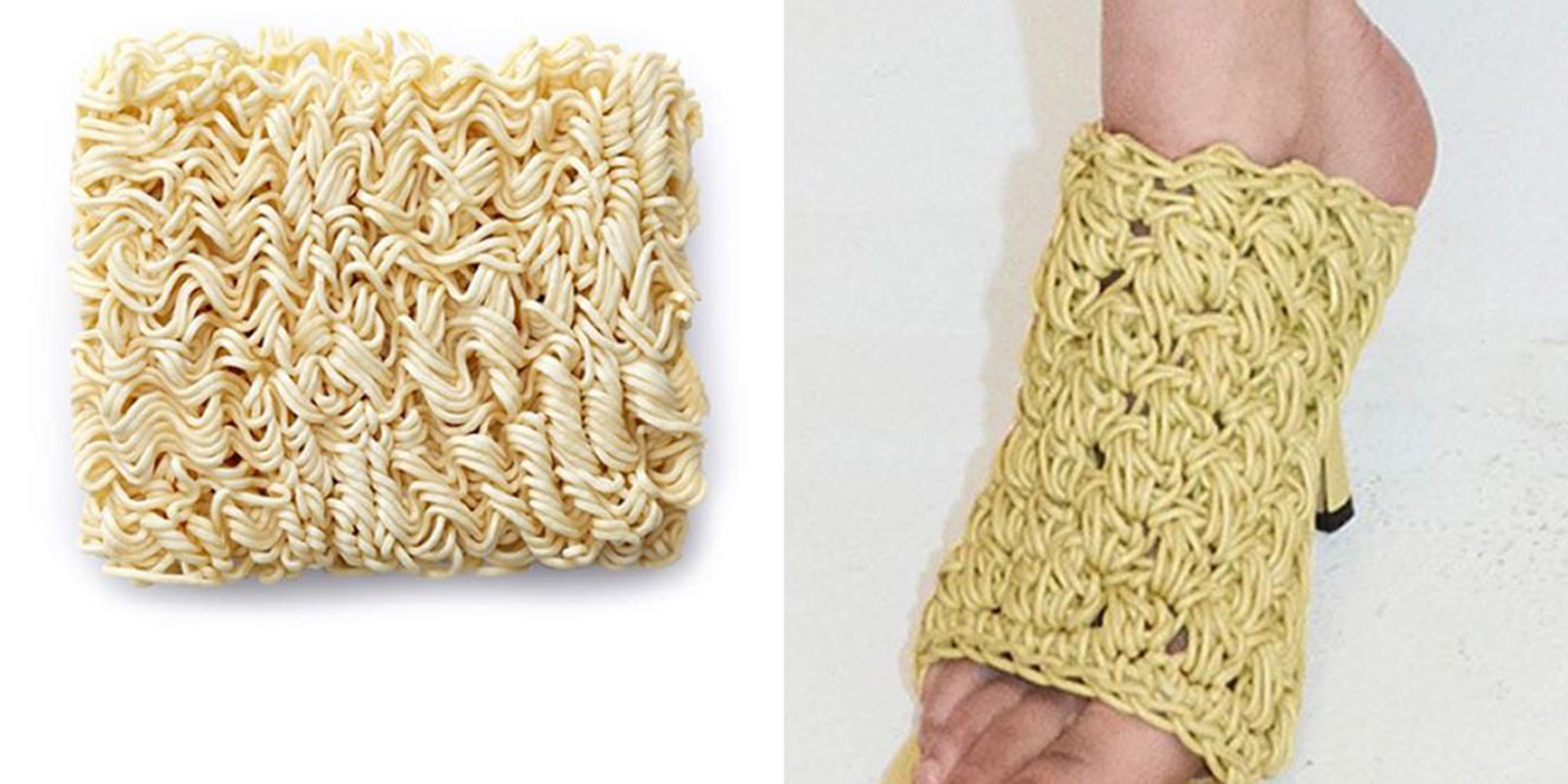 Runway snack? These high-fashion shoes are being compared to ramen noodles