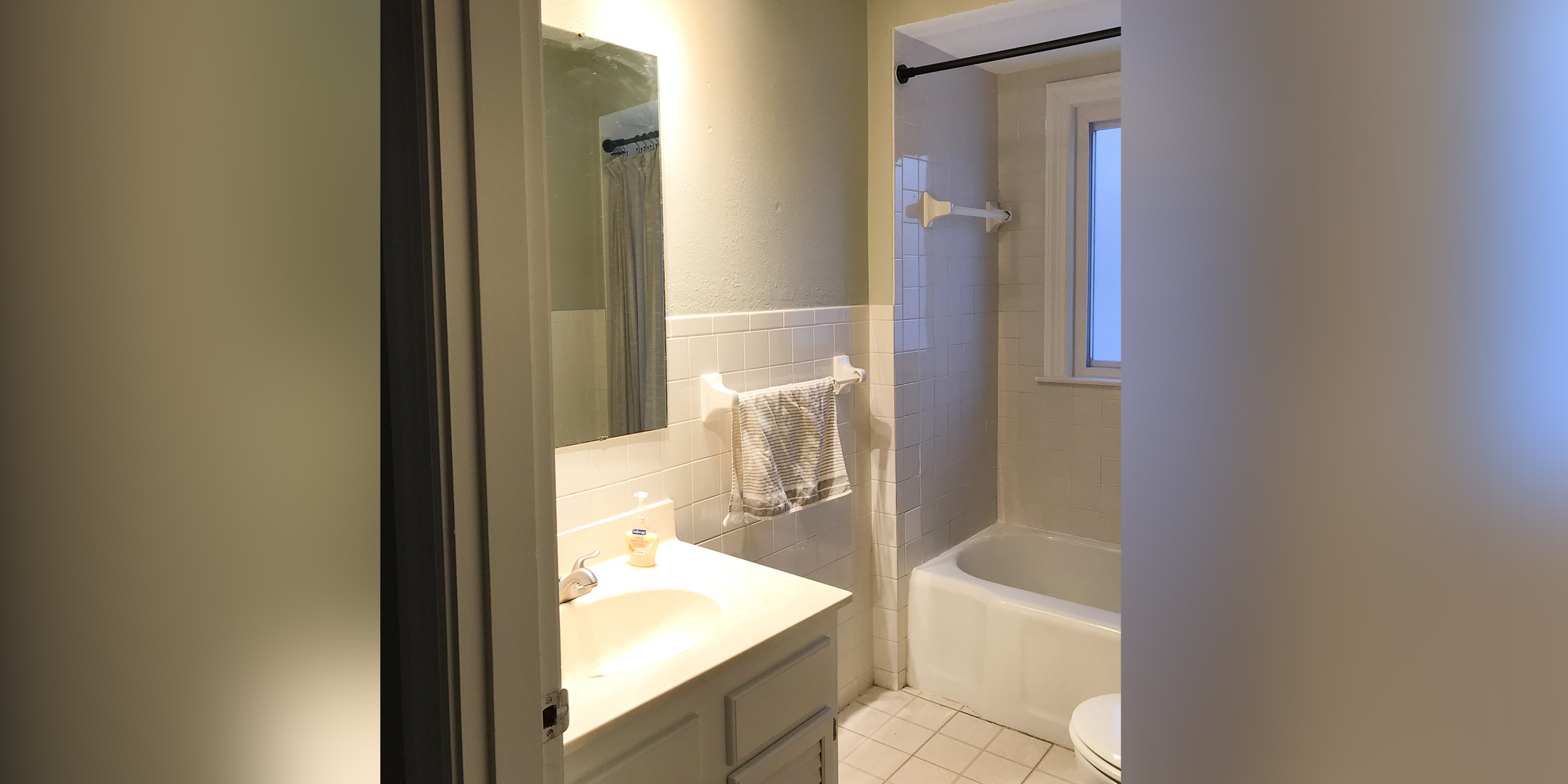 Diy Bathroom Makeover For 500 Uses Shiplap And L Stick Tiles