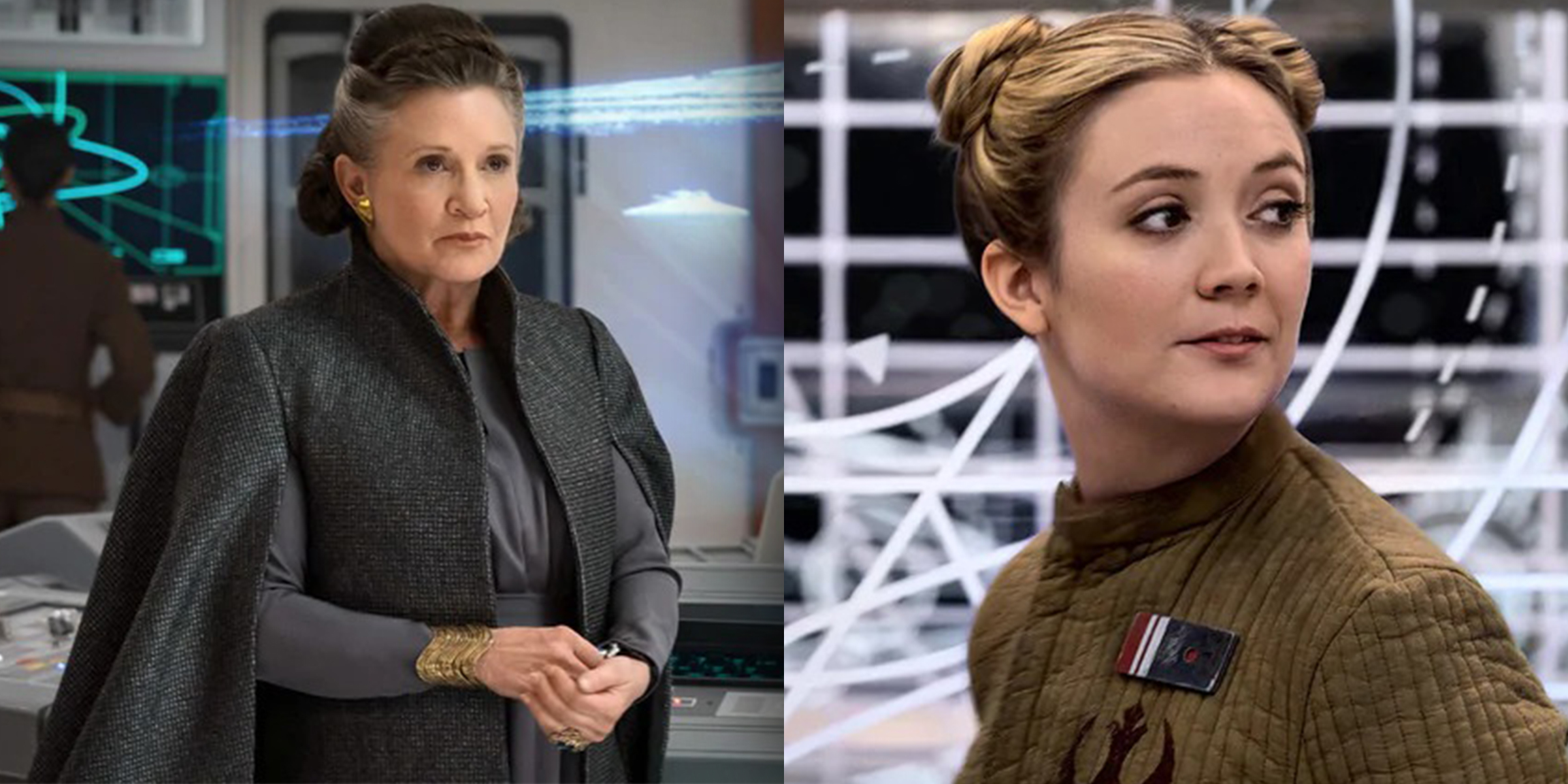 Carrie Fisher S Daughter Billie Lourd Played Young Leia In Star Wars Rise Of Skywalker