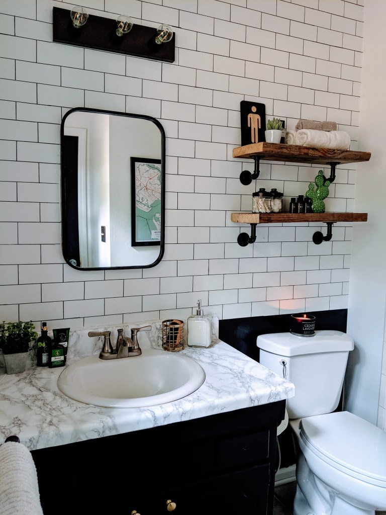 How 1 Homeowner Used Subway Tile In Her Bathroom For Only 3