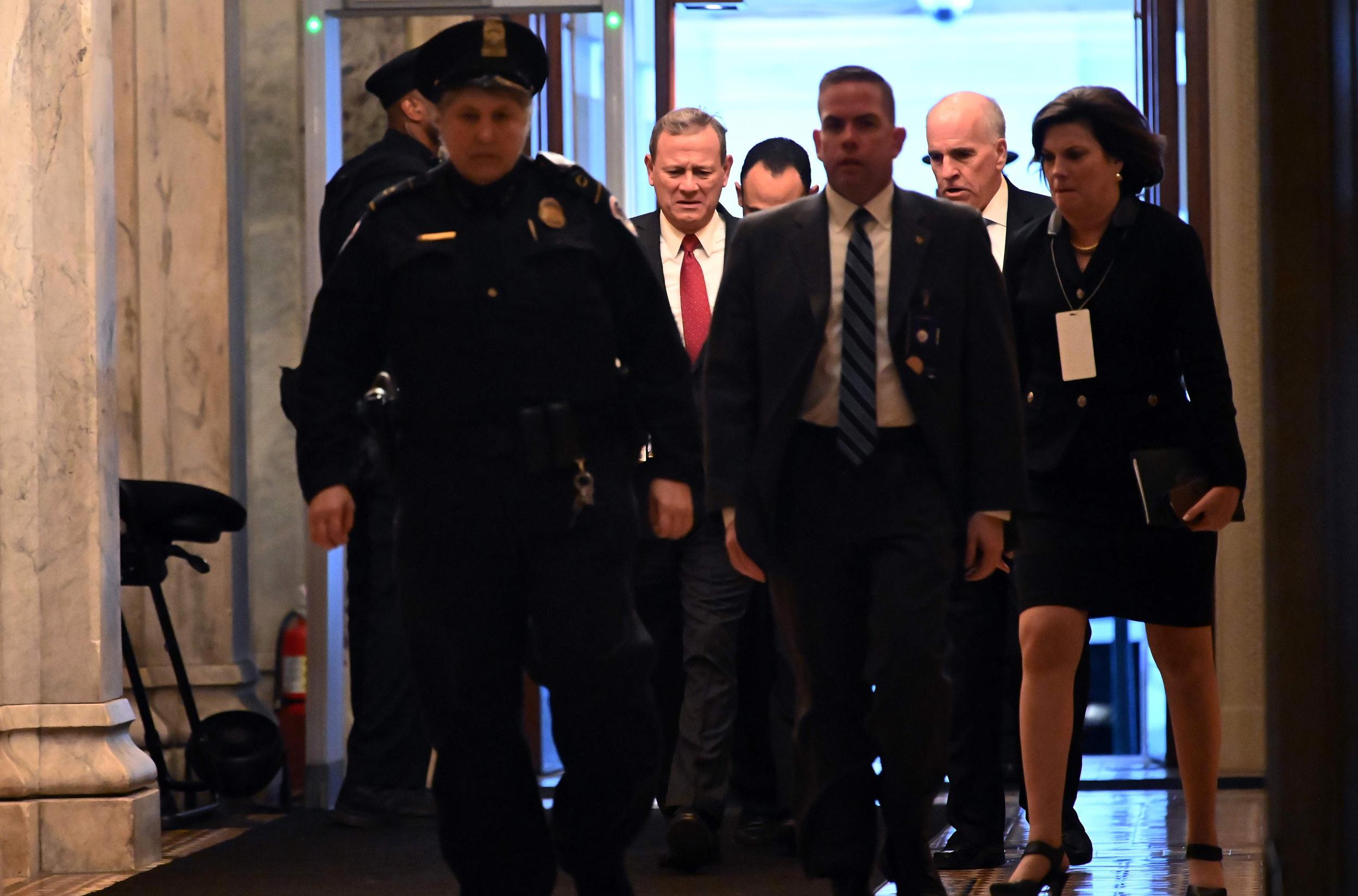 Chief Justice John Roberts Swears In Senators For Trump S Impeachment Trial