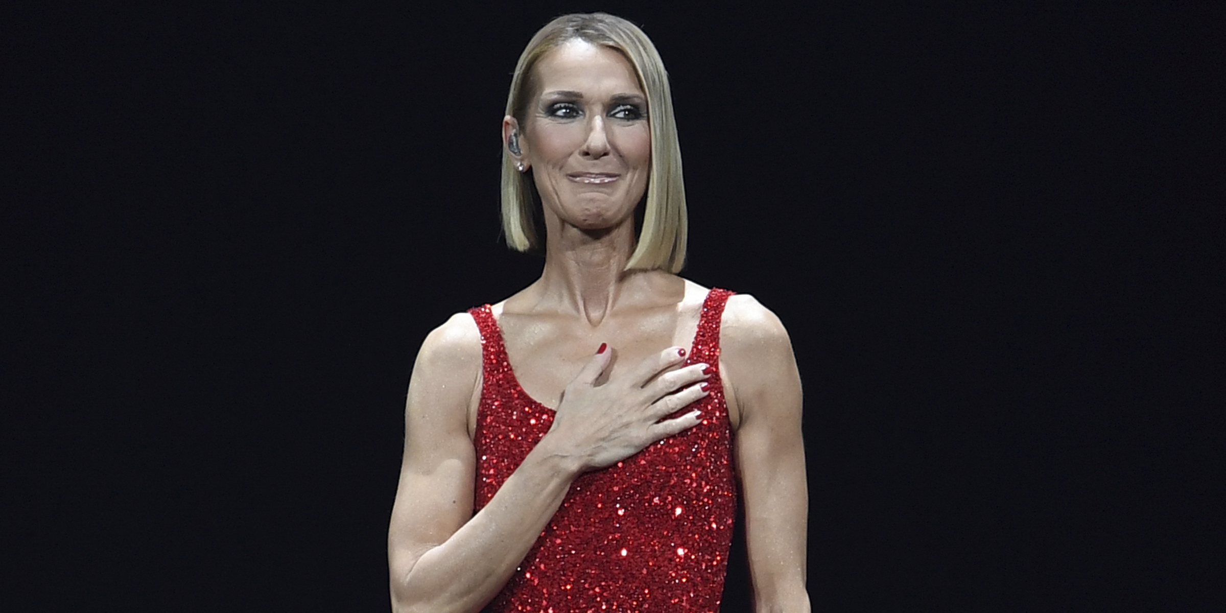 Celine Dion paid tribute to her late mother onstage just hours after death