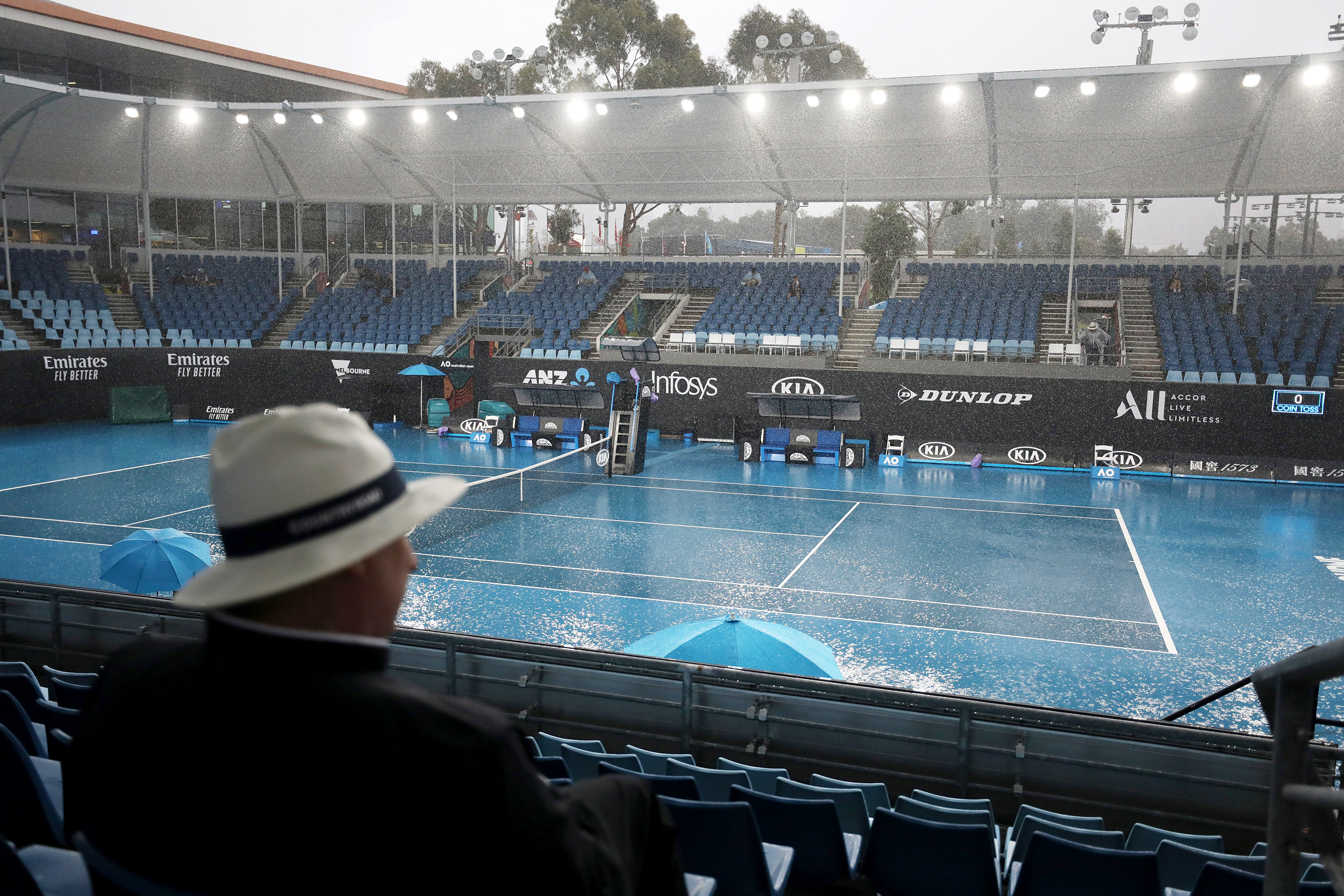 First Smoke Now Rain As Australian Open Struggles With Weather