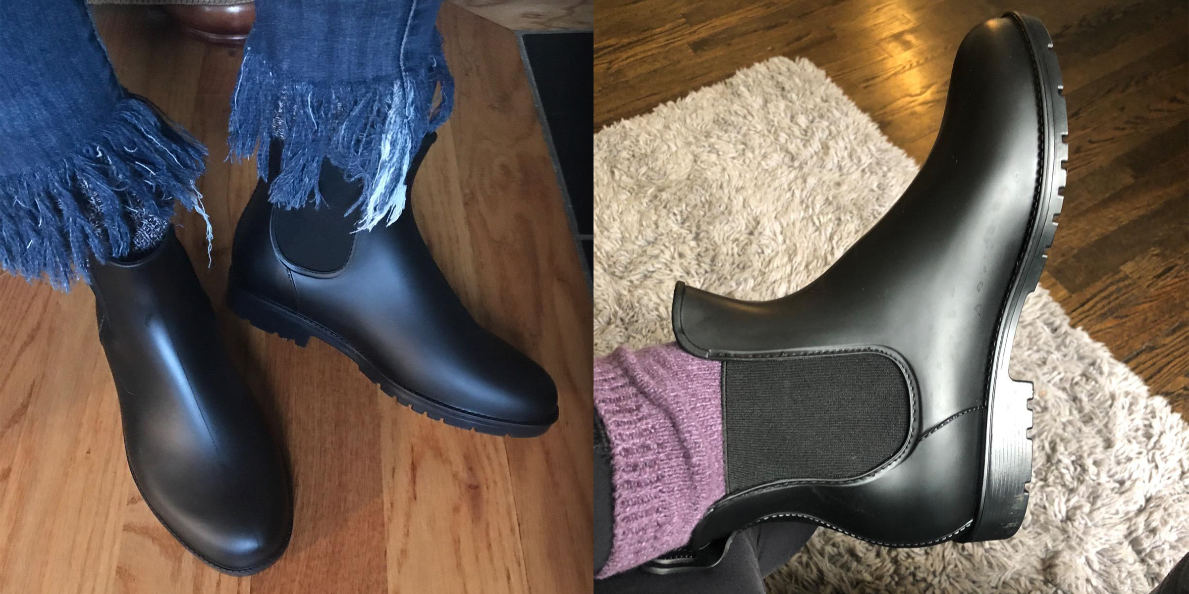These Chelsea Rain Boots On Amazon Are Fashion Blogger Approved