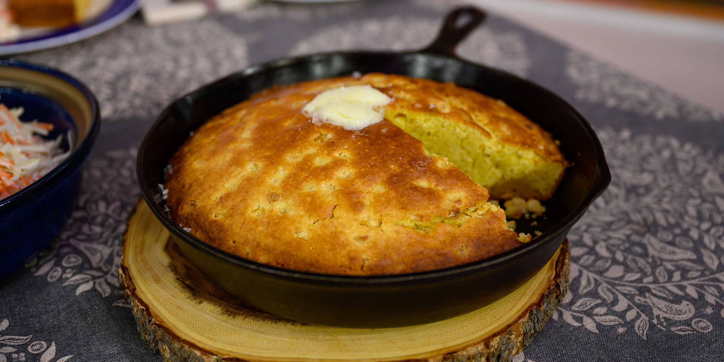 Cook cornbread in a cast-iron skillet for a perfectly crispy crust