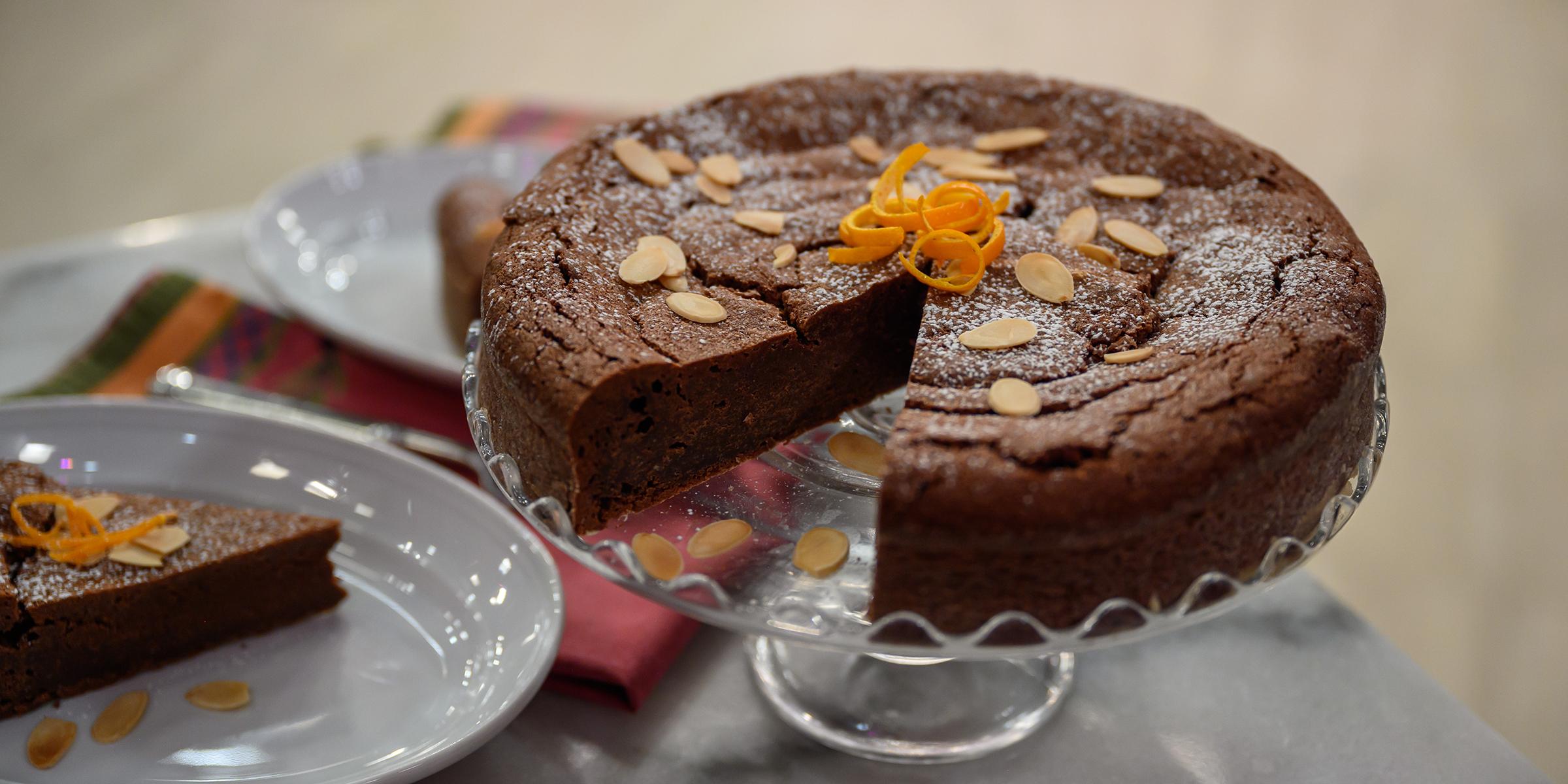 Bake Lidia Bastianich's chocolate-almond tart for any festive gathering