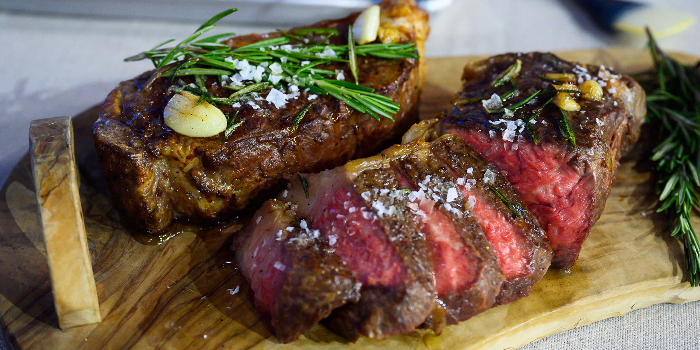 Reverse Seared Strip Steak With Garlic Butter And Rosemary Today Com