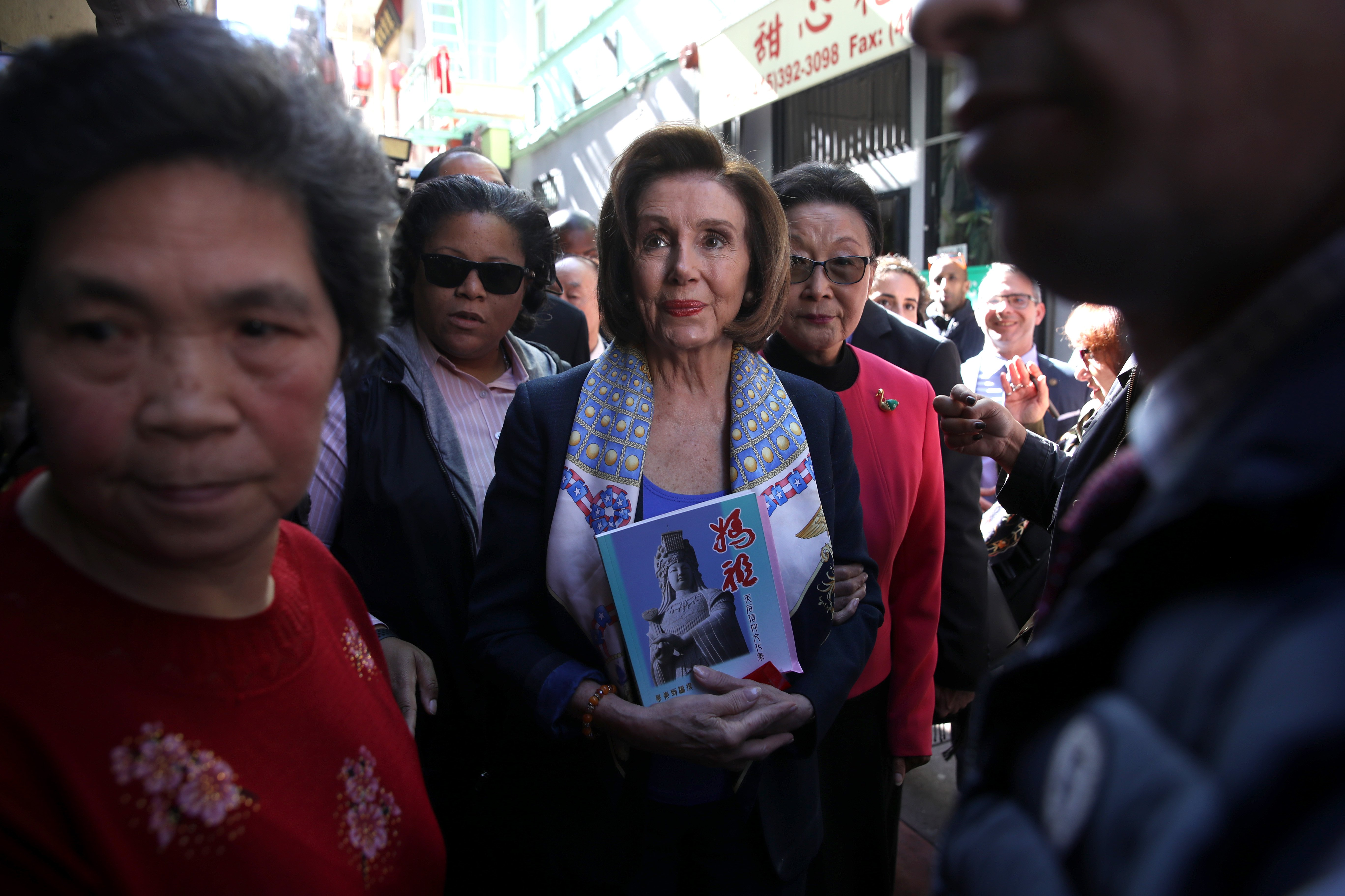 Image: Speaker Nancy Pelosi Meets With Local Business Owners In San Francisco's Chinatown
