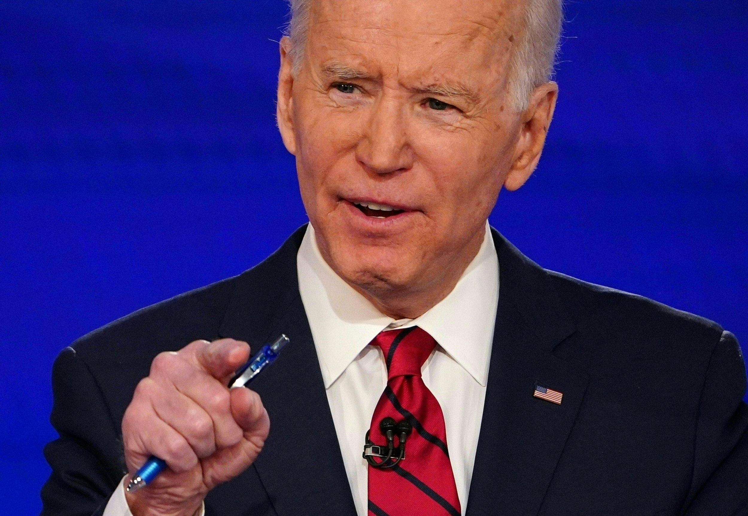 Hasil gambar untuk Biden sweeps three states, doubles delegate lead over Sanders