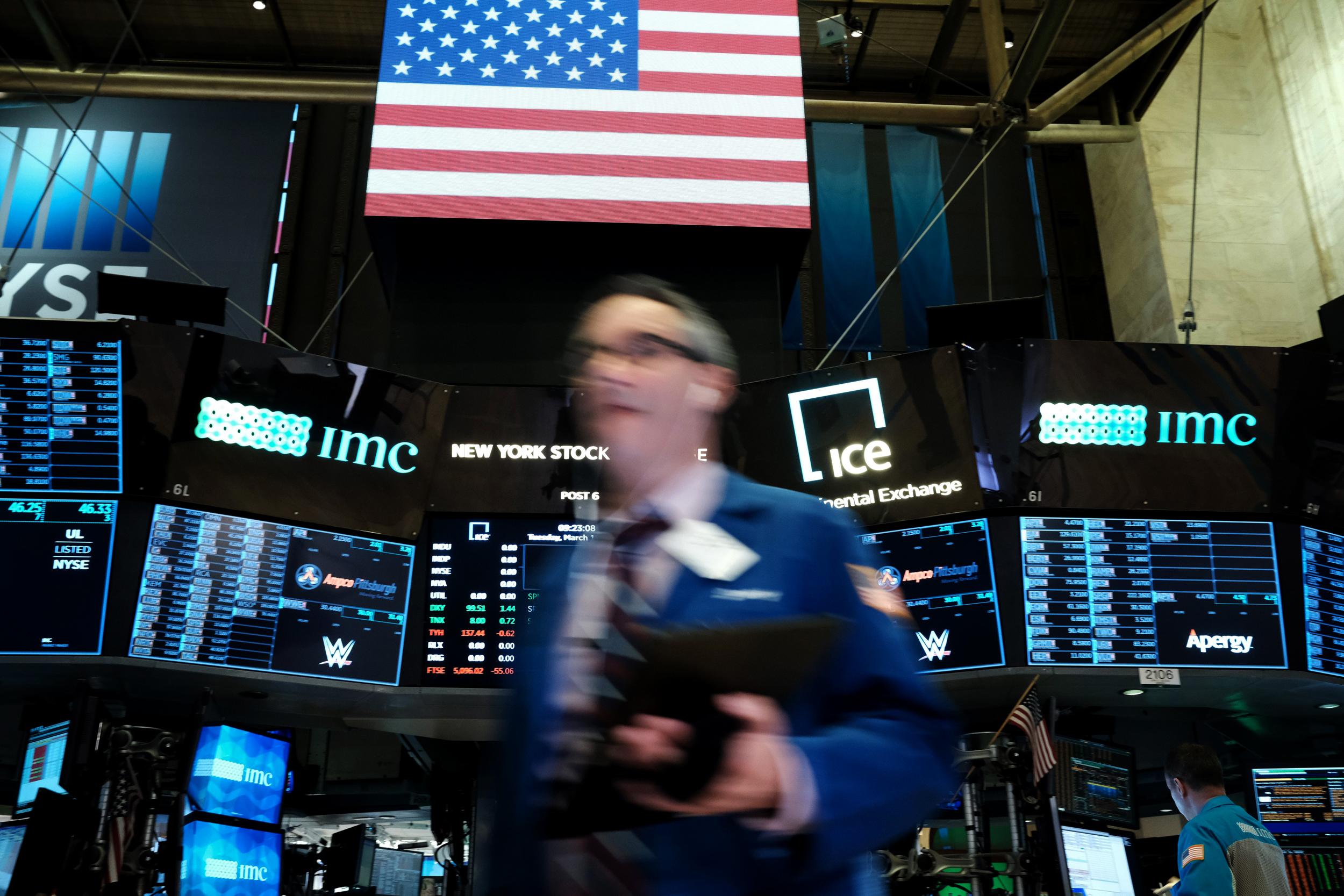 New York Stock Exchange closes trading