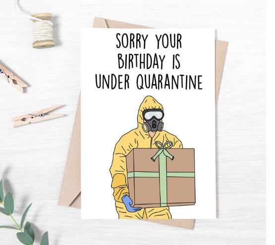 43 quarantine birthday ideas, gifts and cards