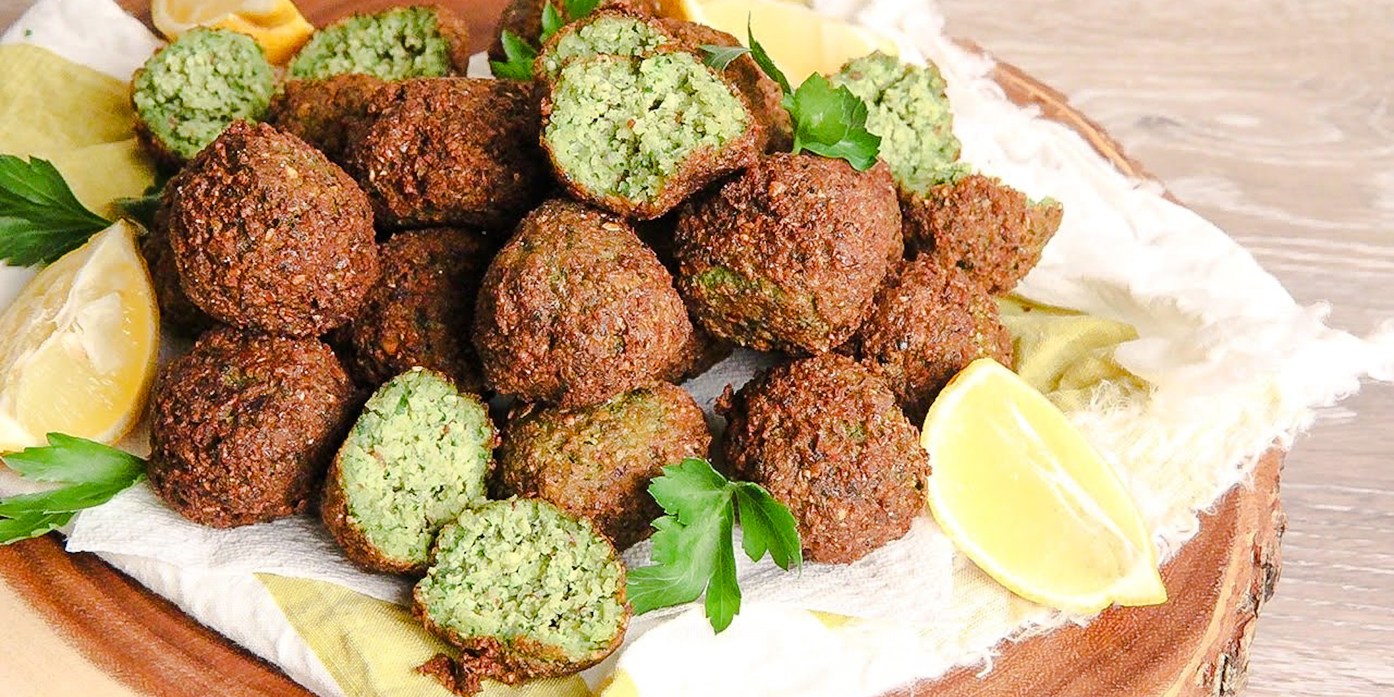 Make crispy falafel without deep-frying by baking them in the oven