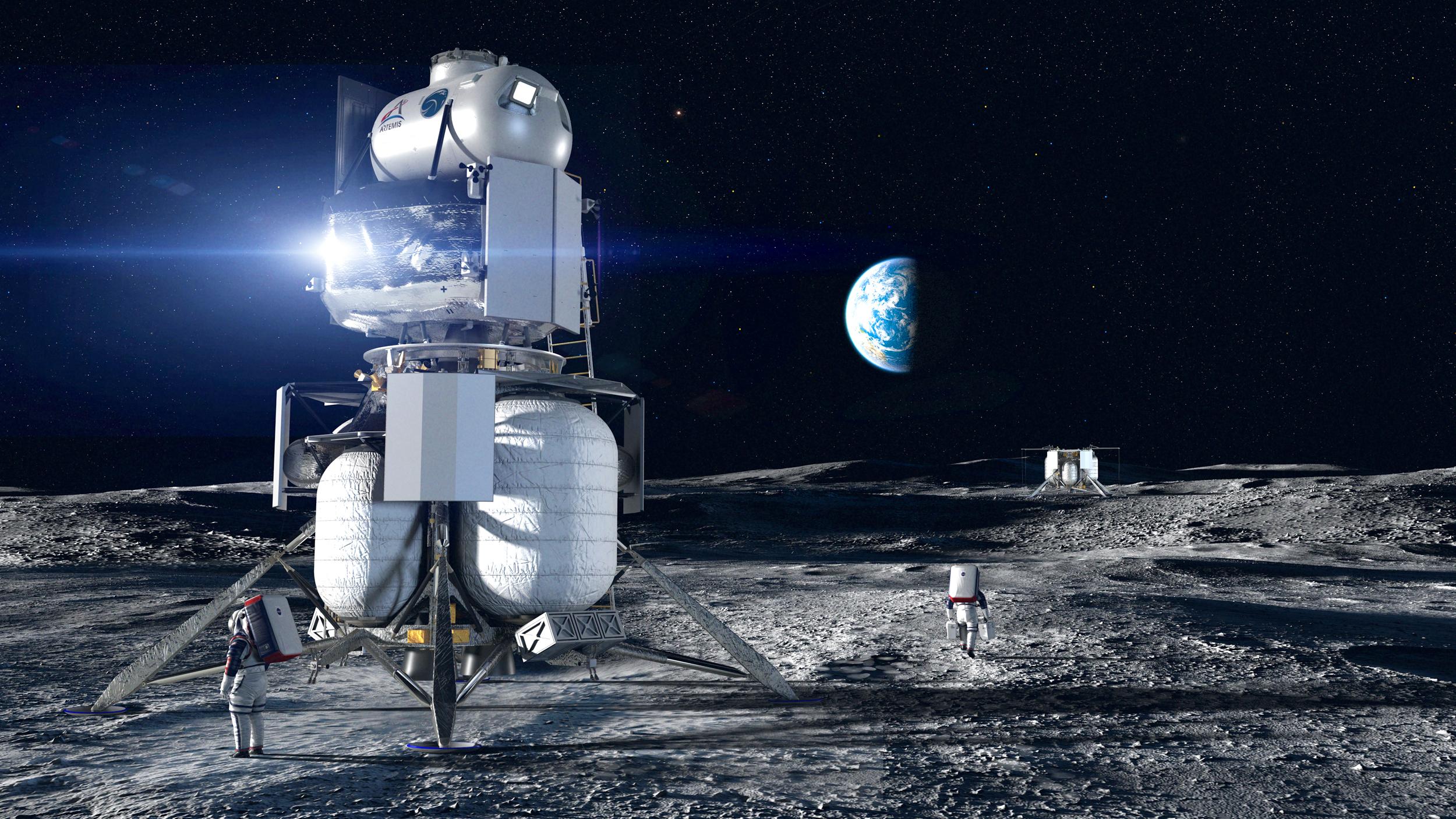 Spacex Blue Origin Land Contracts To Build Nasa S Astronaut Moon Lander