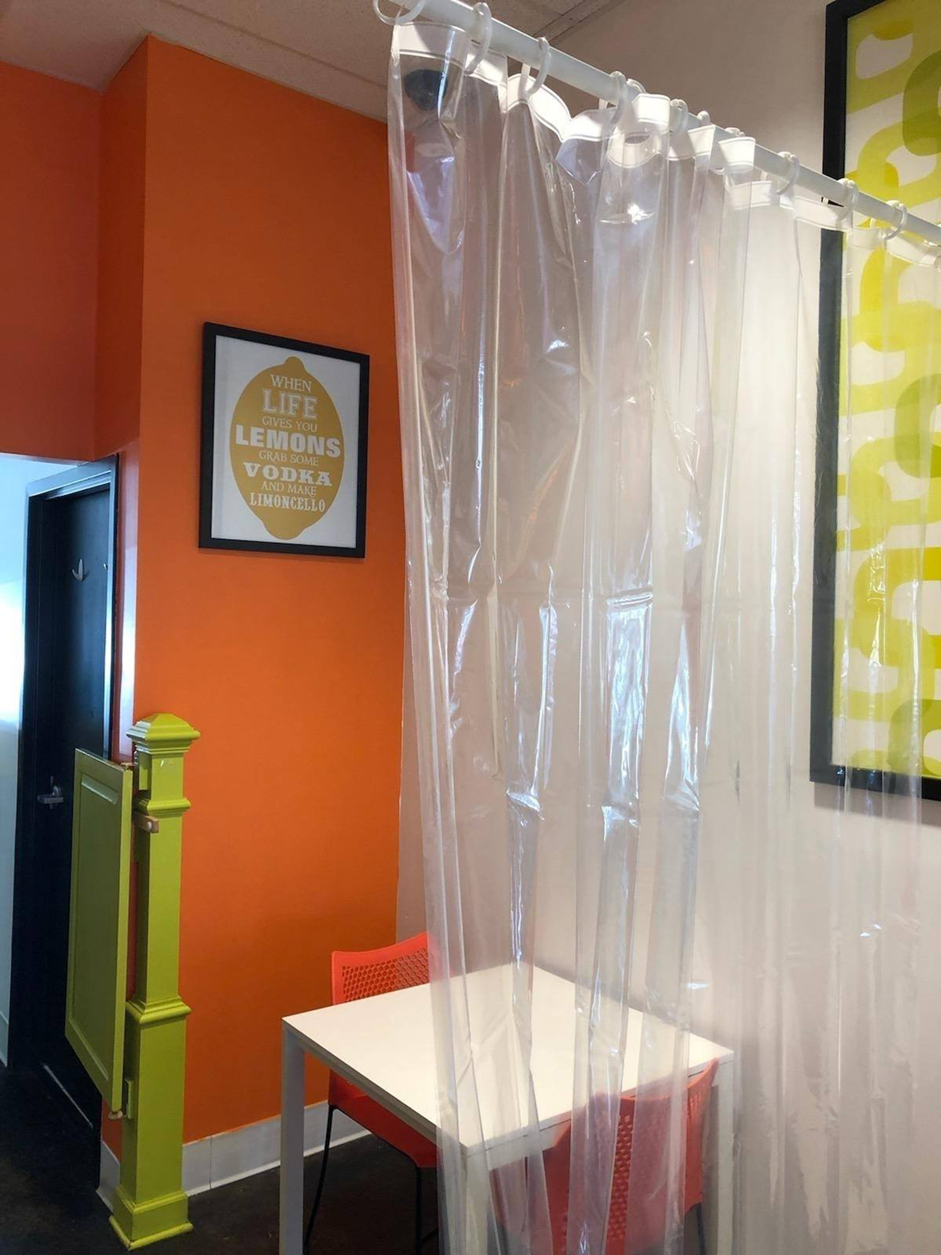 Ohio Restaurant Installs Shower Curtains Between Tables To Encourage Social Distancing