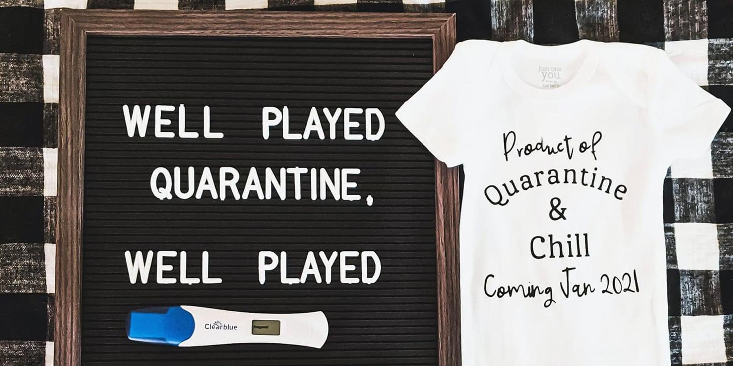 Couples Posting Creative Quarantine Pregnancy Announcements