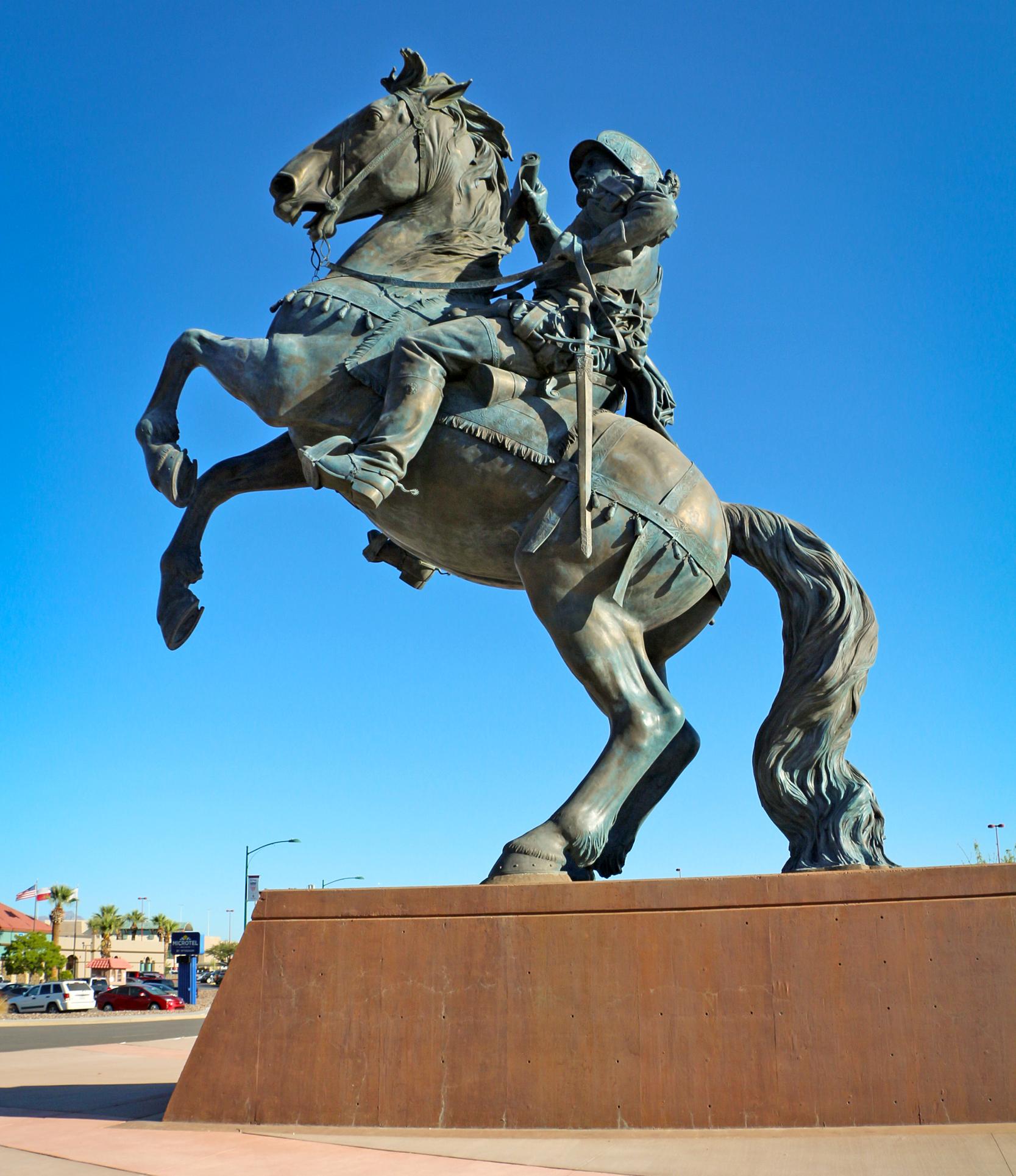 IMAGE: 'Equestrian' statue in El Paso (El Paso International Airport)