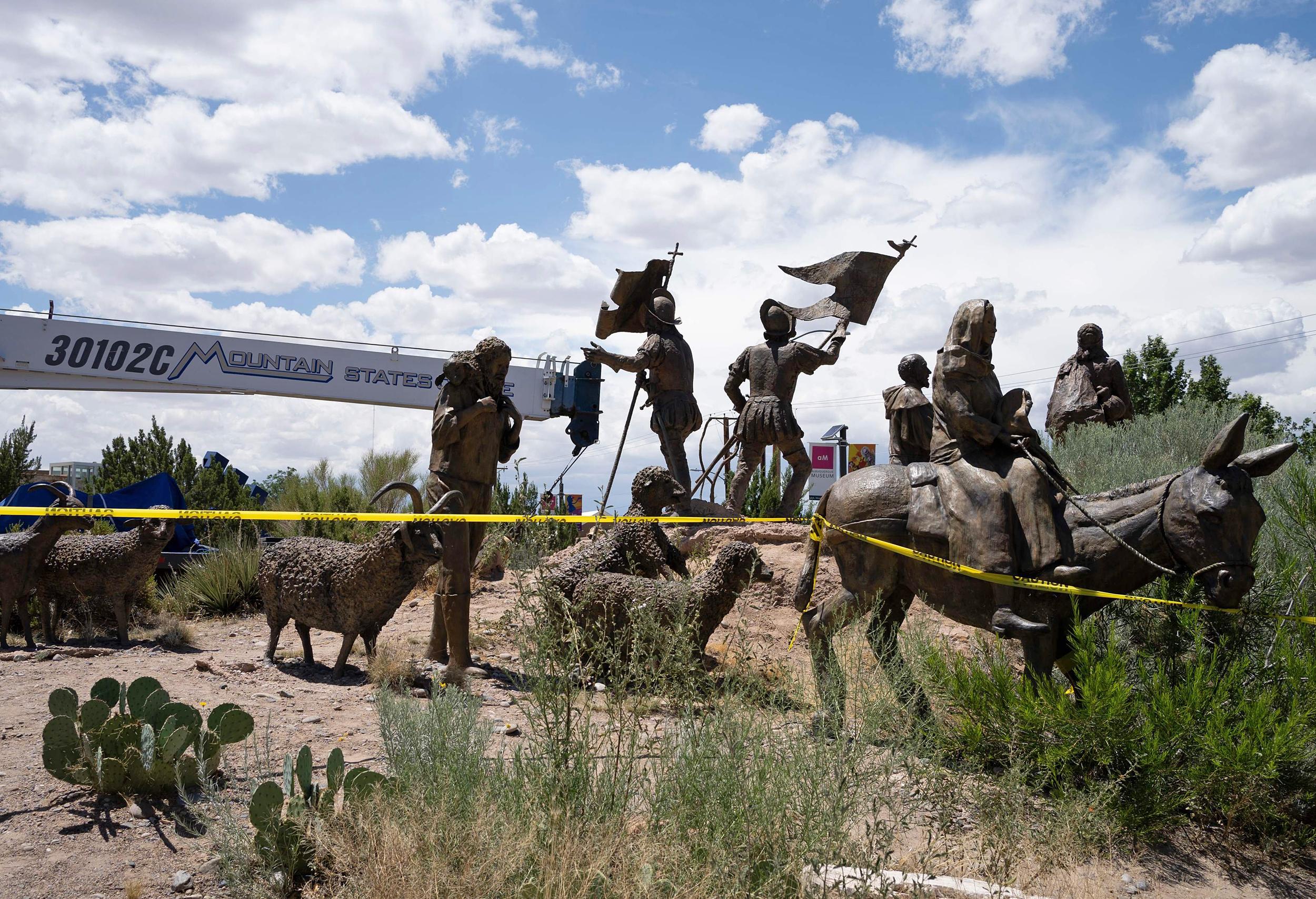 Image: Sculpture of Juan de Onate (Paul Ratje / AFP - Getty Images file)