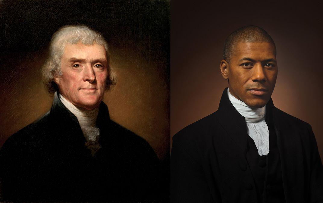 Image of Thomas Jefferson alongside Black descendant holds 'a mirror' to America