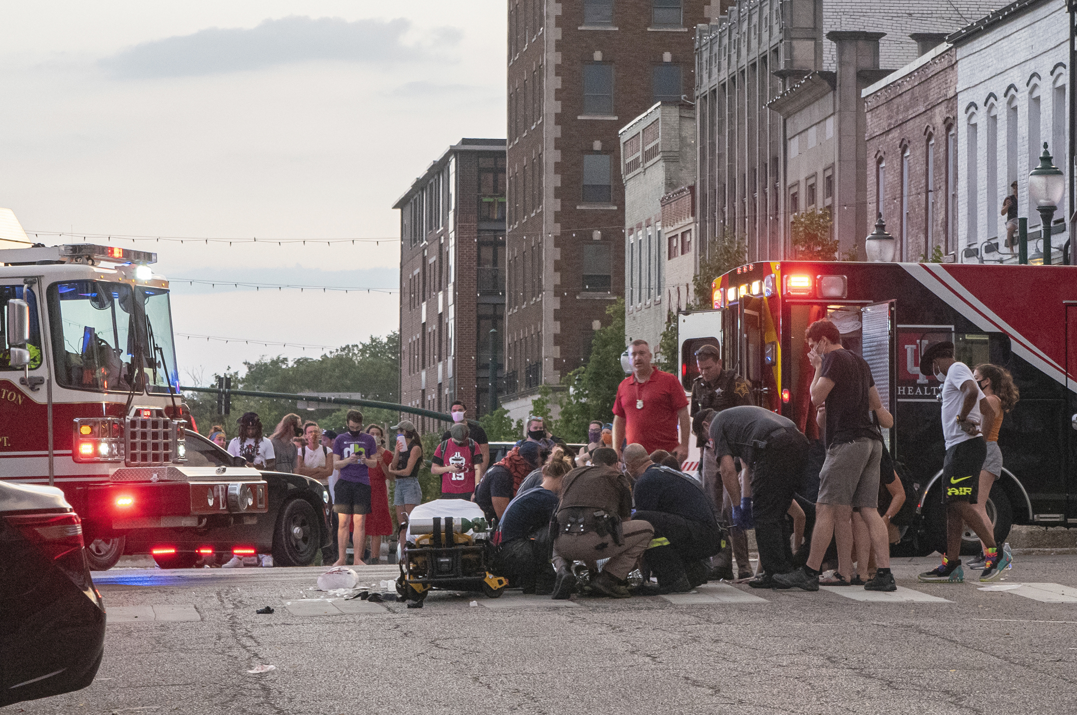 """Car drives into protesters at rally for the Black victim of an """"attempted lynching"""" in Indiana"""