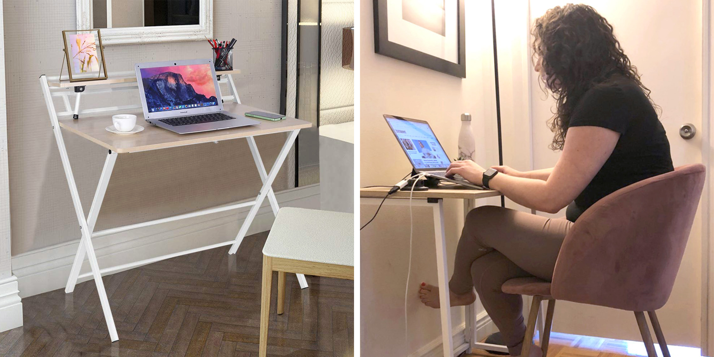 This foldable desk for working from home is under $100
