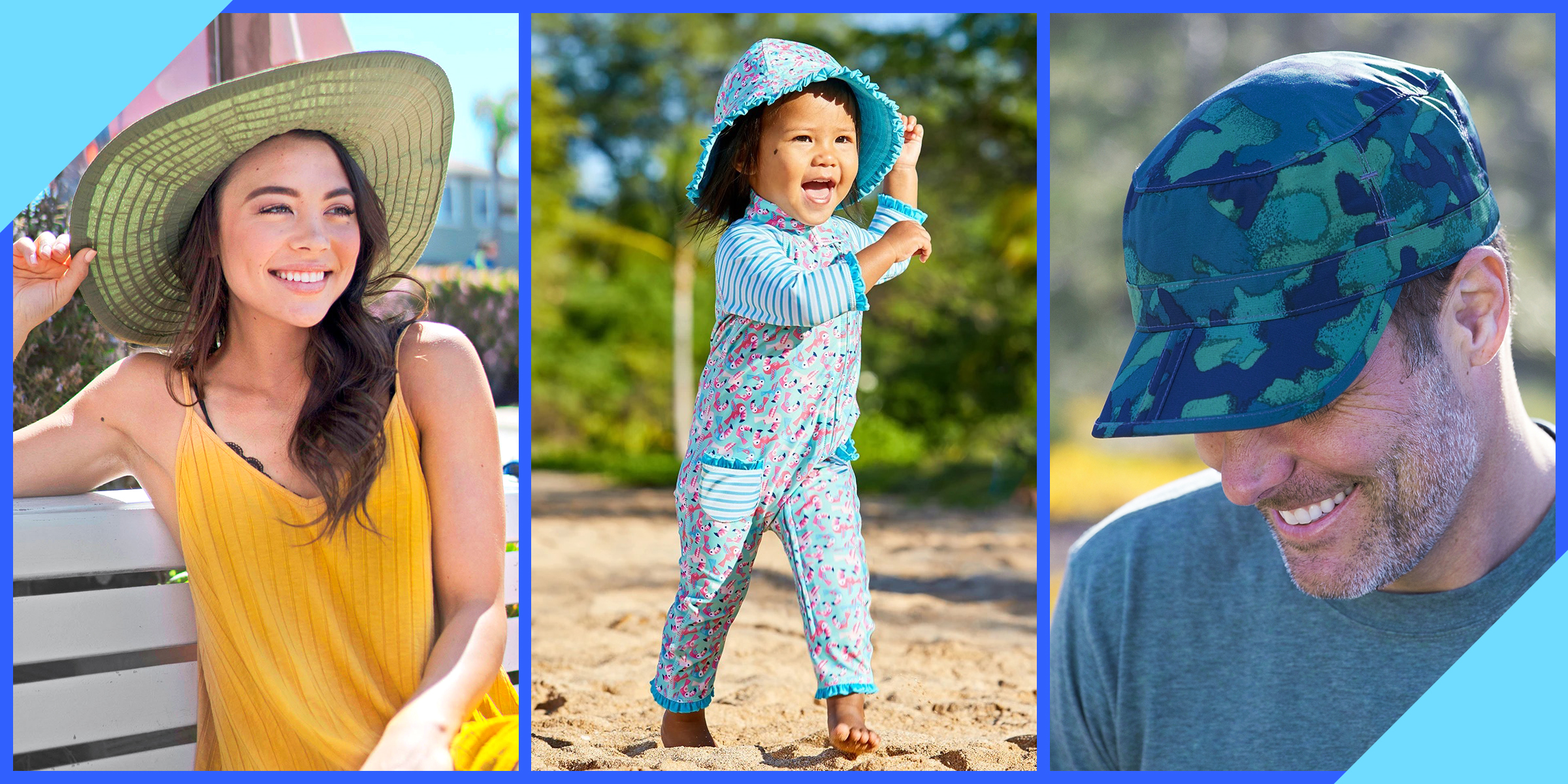 Toddler Baby Wide Brim Sun Hat Kid Bucket Cap Summer Beach Travel Outdoor T