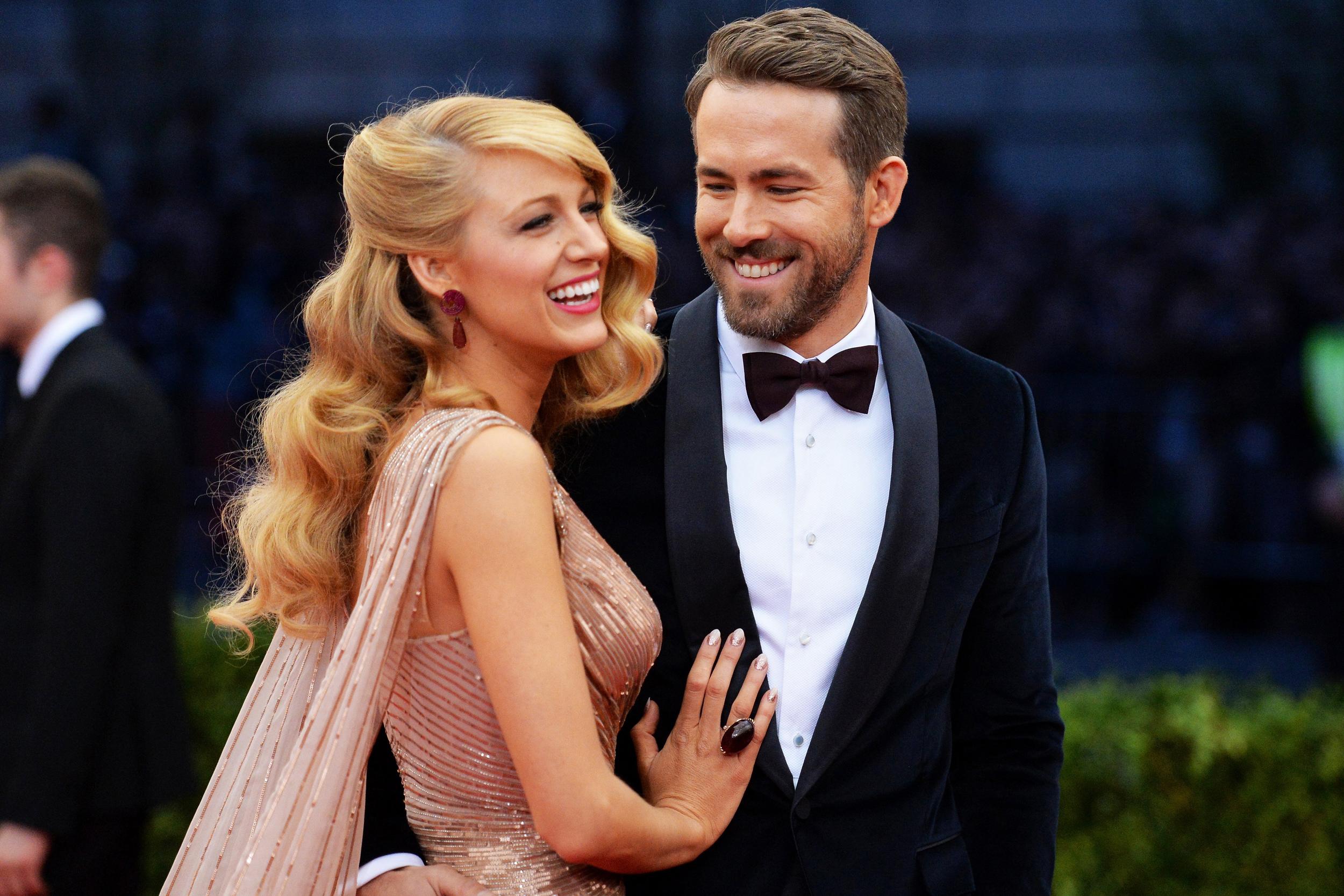 Lively wedding gosling blake ryan Ryan Reynolds