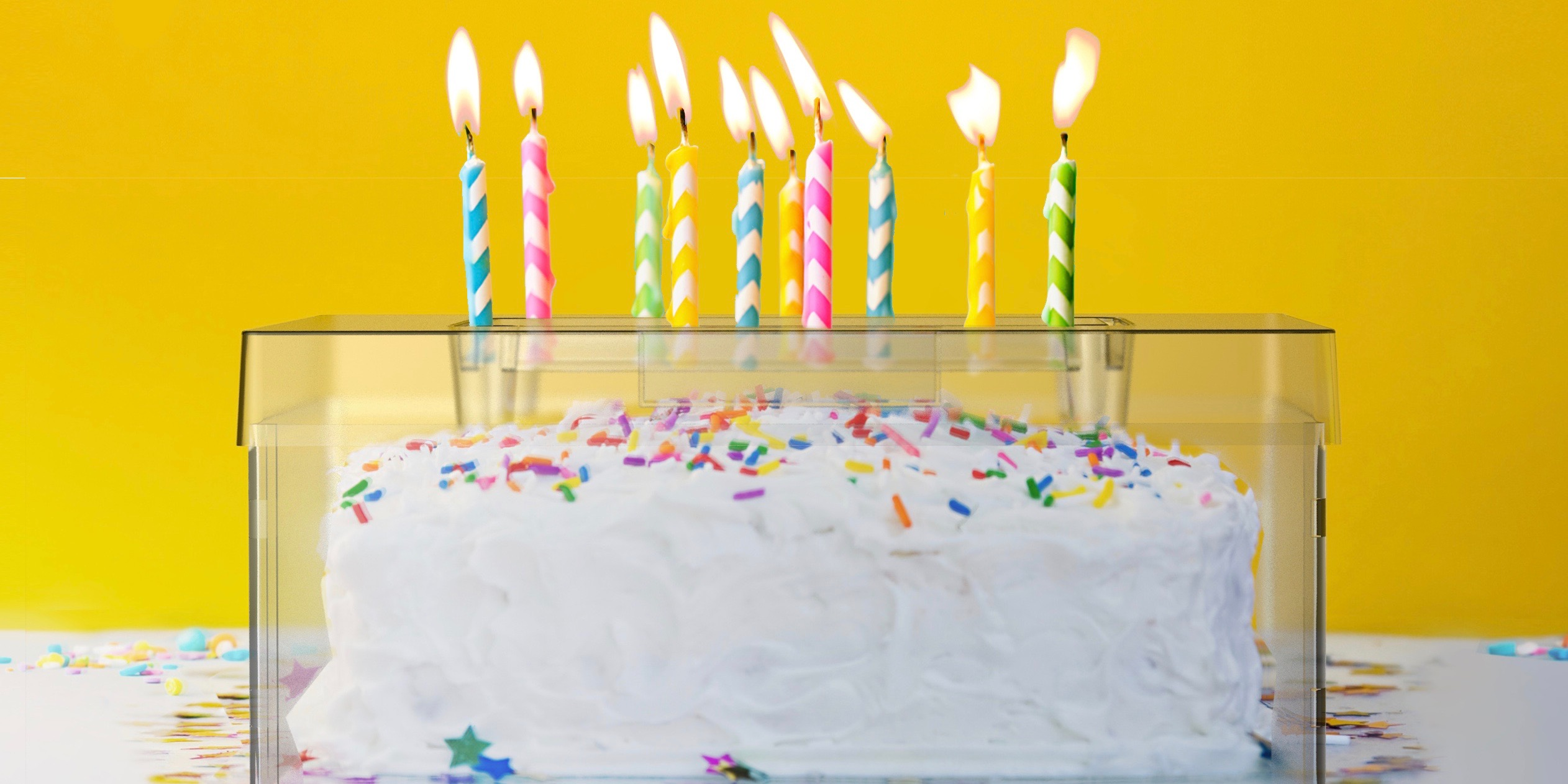 A Dentist Created A Cake Shield To Protect Birthday Guests From Germs