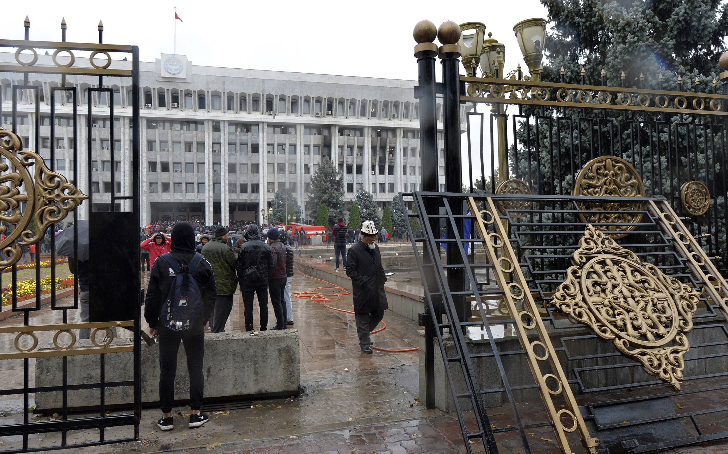 Opposition in Kyrgyzstan claim power after storming government buildings