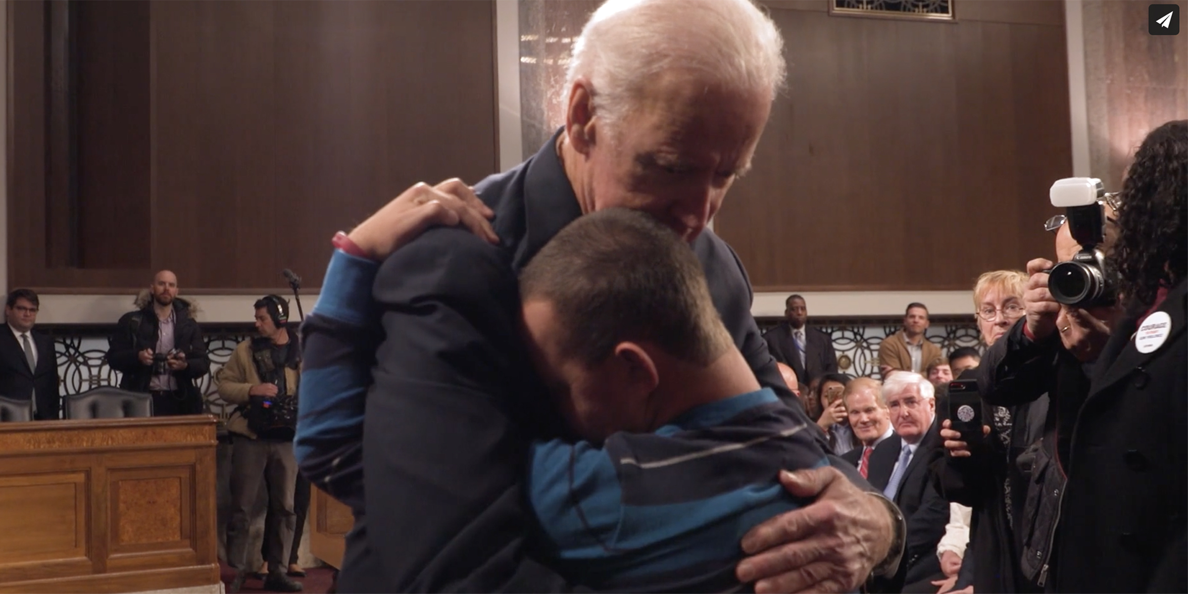 Video of Joe Biden hugging son of Parkland victim goes viral