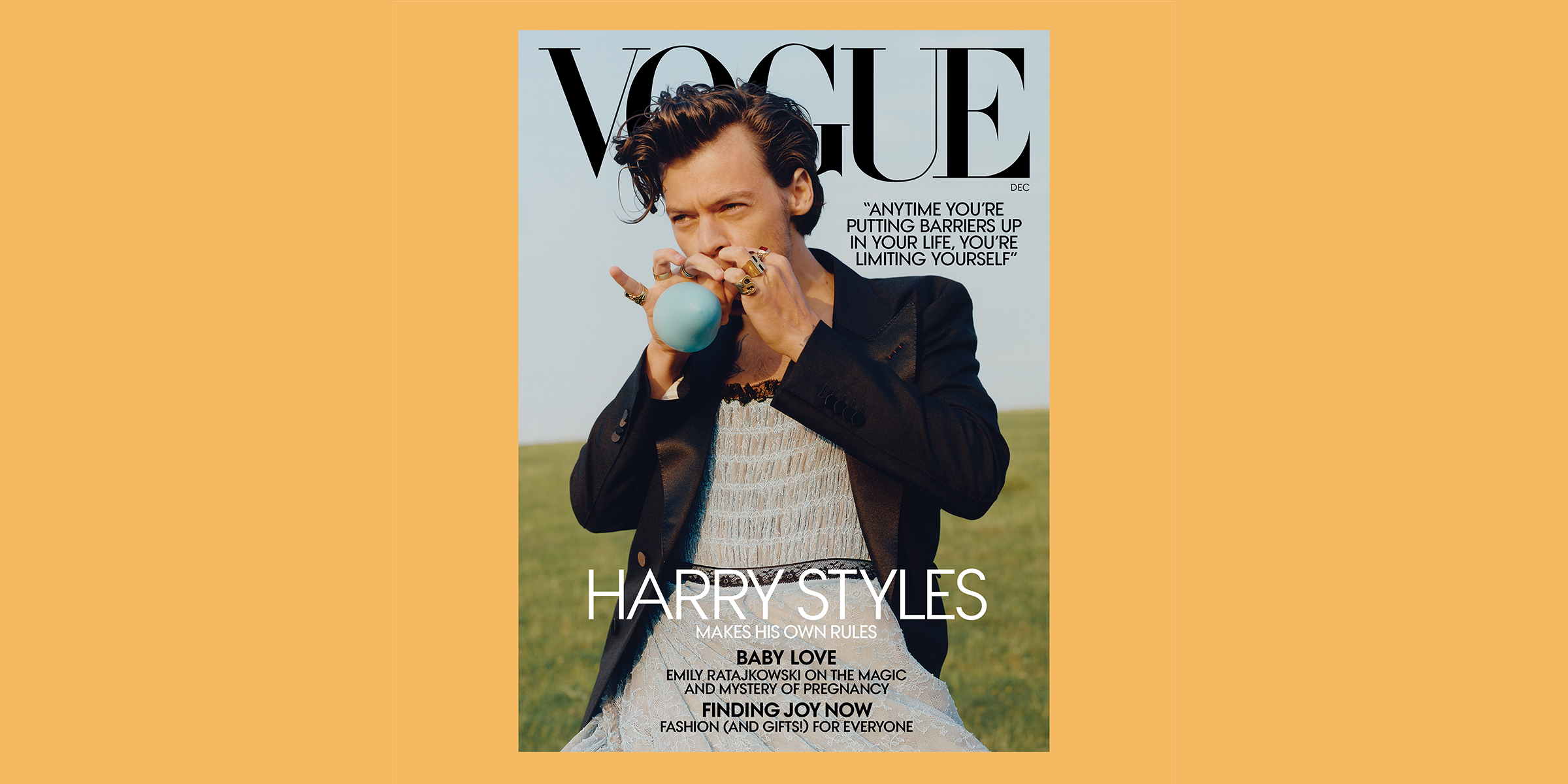 Harry Styles Is 1st Man To Be On A Vogue Cover Solo