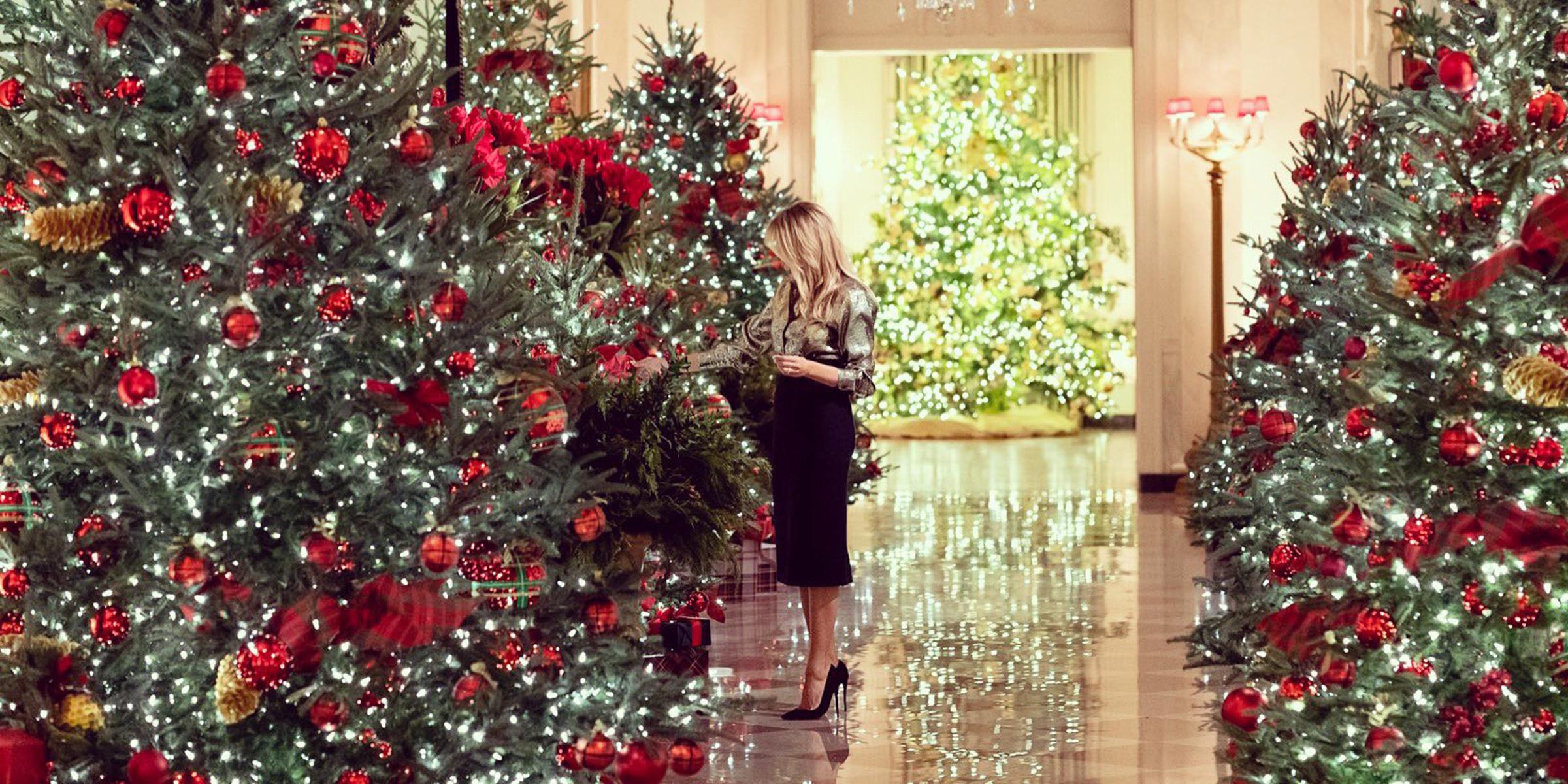 Melania Trump Unveils 2020 White House Christmas Decorations