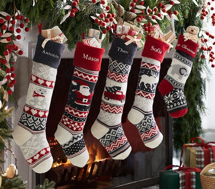 Red and White Striped Stocking Kids Stocking Christmas Stocking Personalized Christmas Stocking Stockings Striped Christmas Stocking